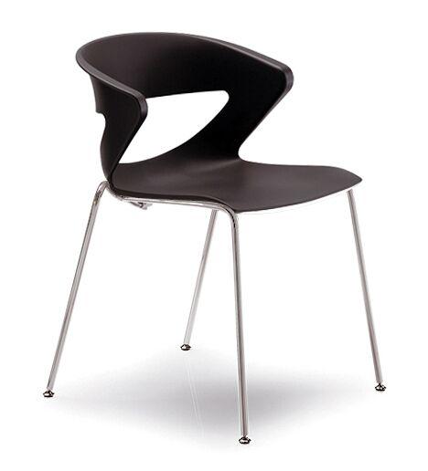 Kreature 4 Leg Guest Chair Seat Color: Black
