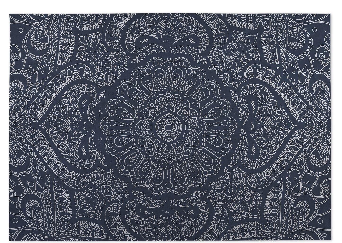 Blue Indoor/Outdoor Doormat Mat Size: Rectangle 8' x 10'