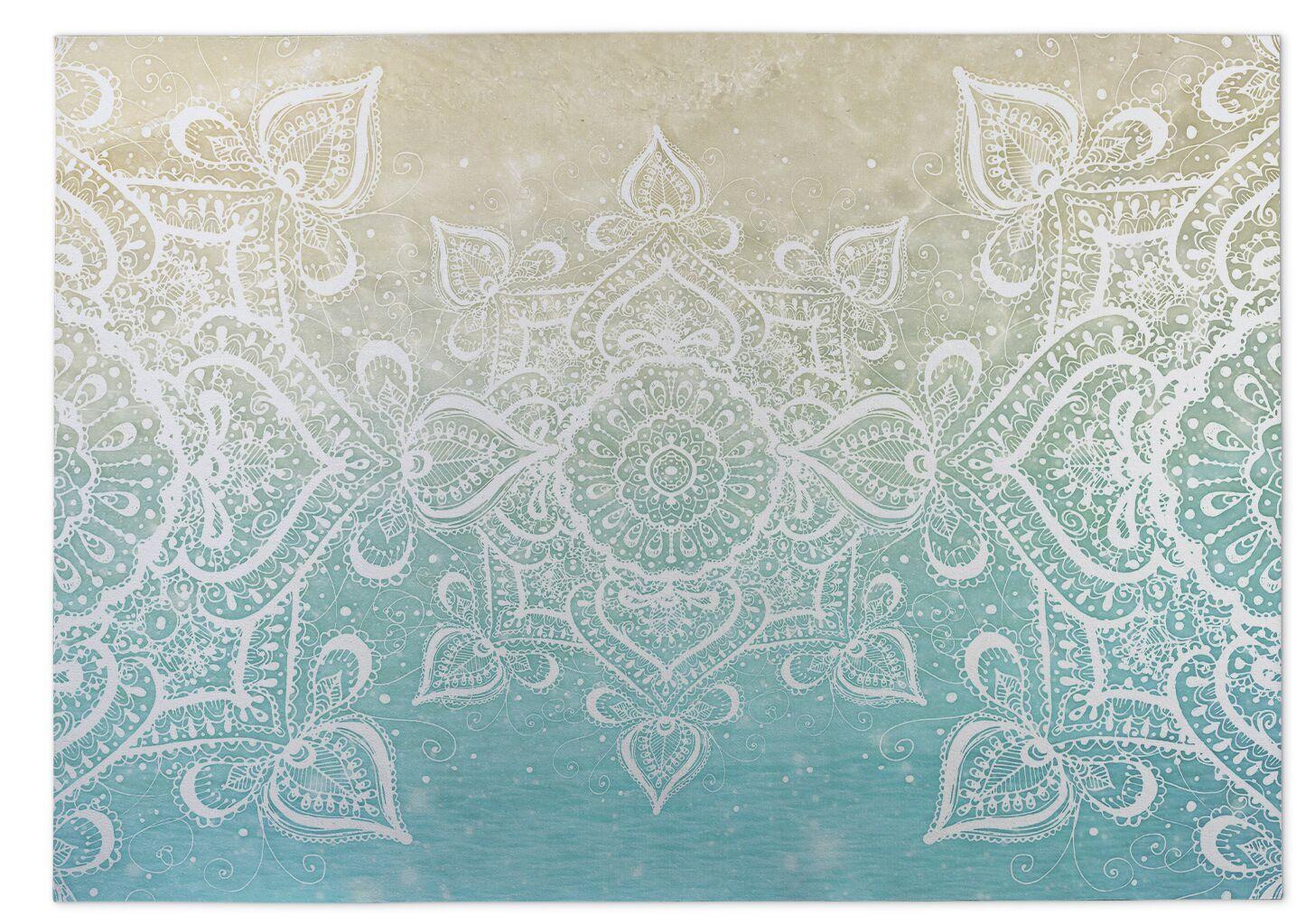 Dream of the Beach Beige/Blue Indoor/Outdoor Doormat Mat Size: Rectangle 4' x 5'