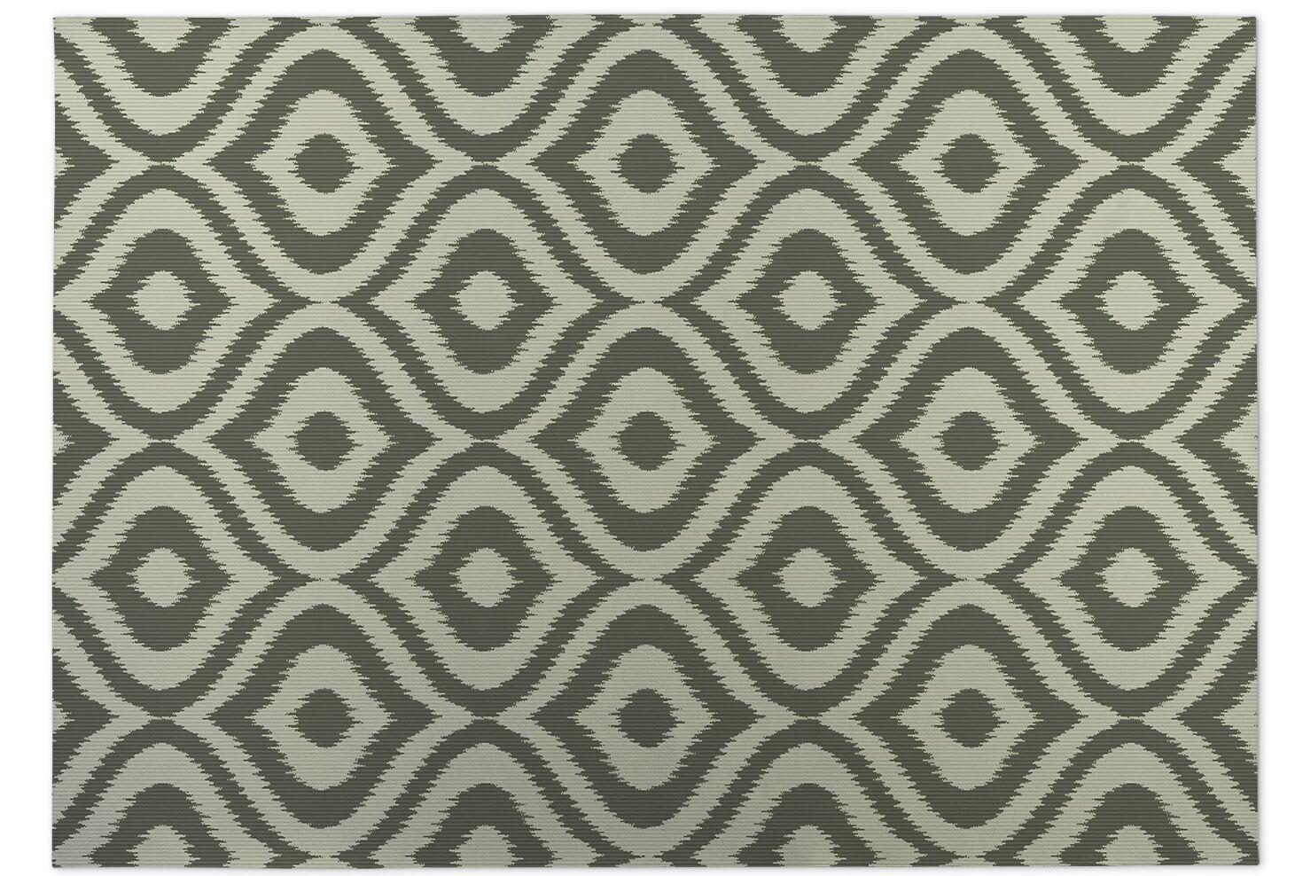 Green Indoor/Outdoor Doormat Mat Size: Rectangle 4' x 5'