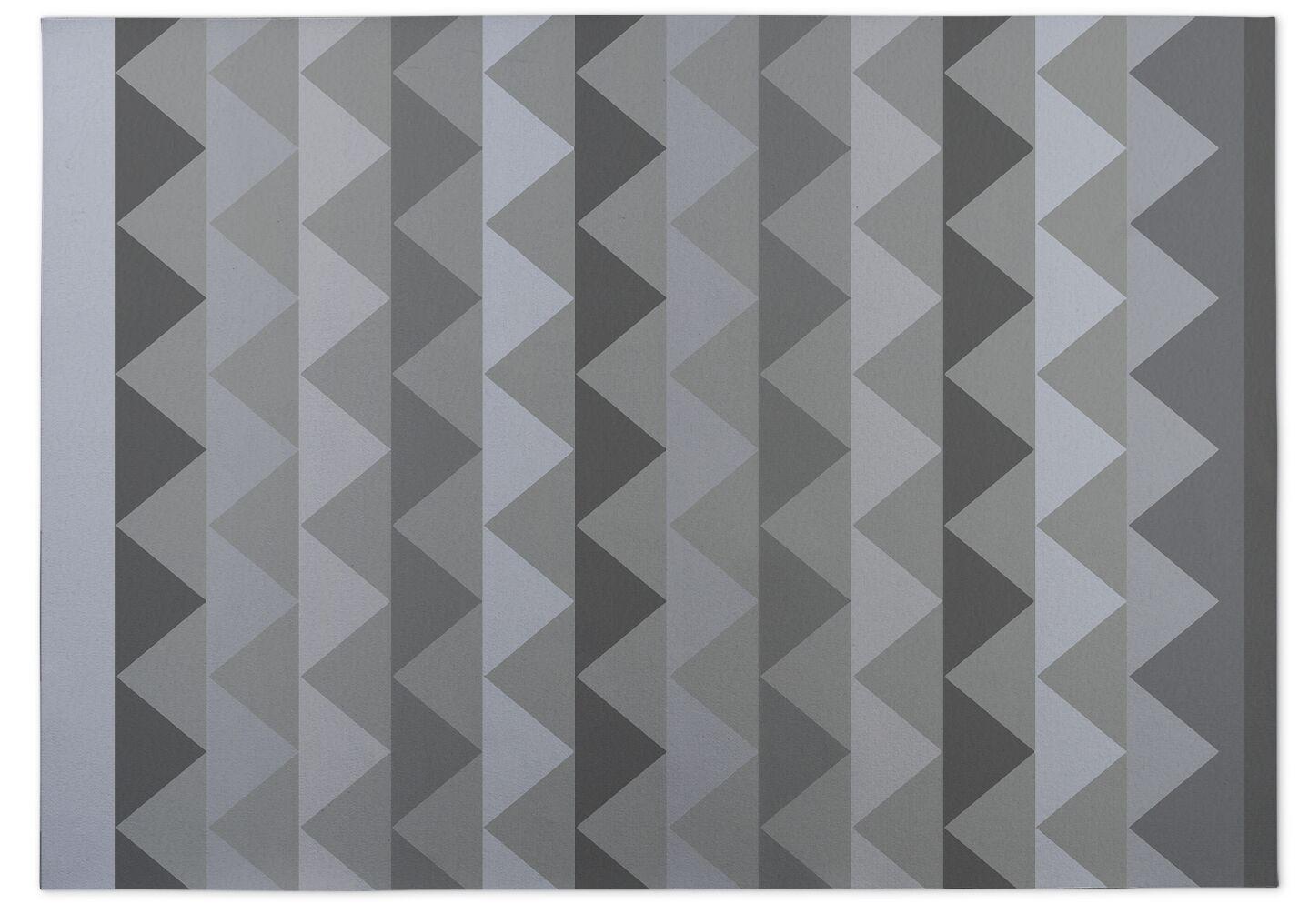 White Caps Kitchen Mat Mat Size: Rectangle 4' x 5'