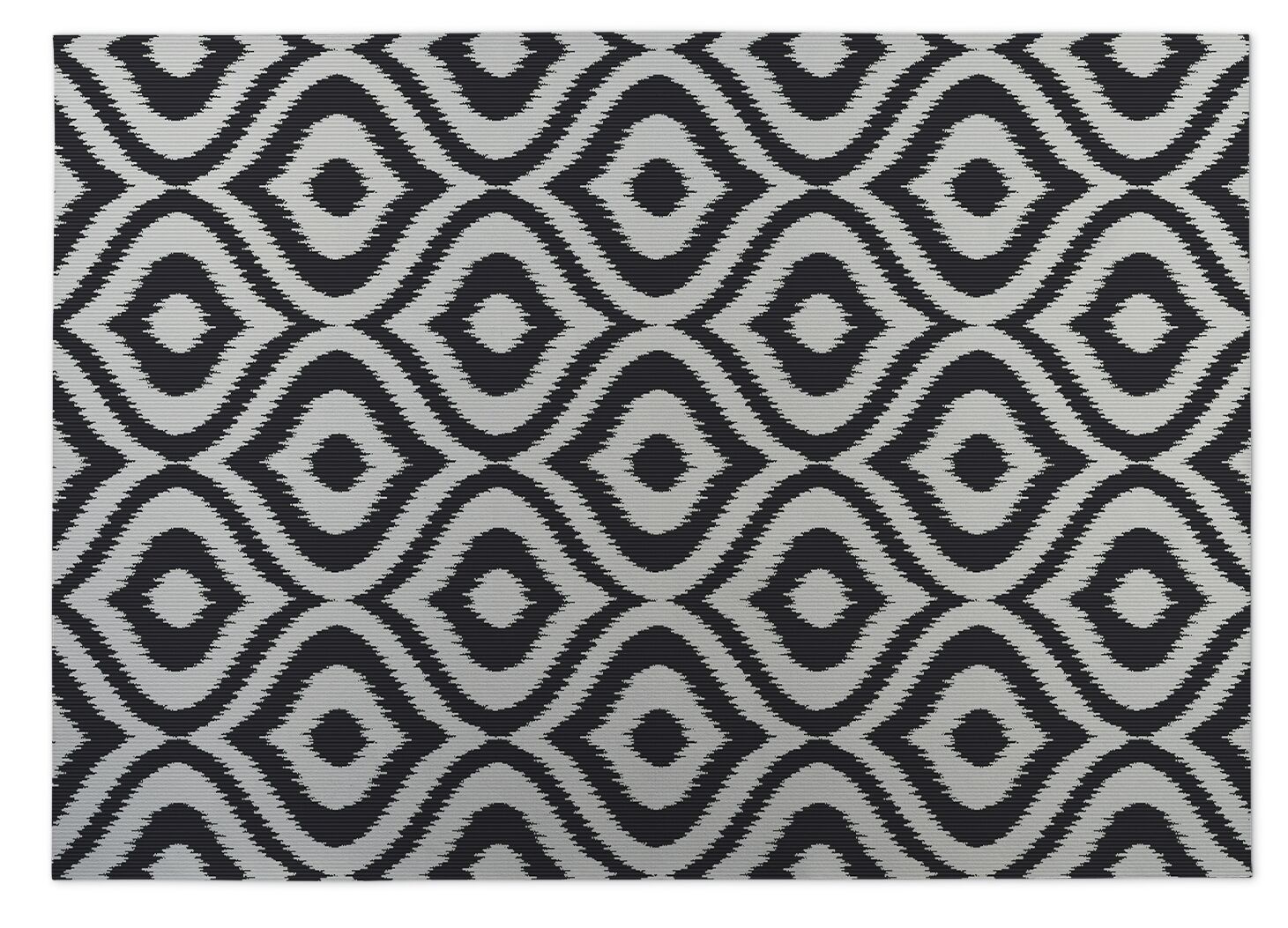 Black/Gray Indoor/Outdoor Doormat Mat Size: Rectangle 4' x 5'