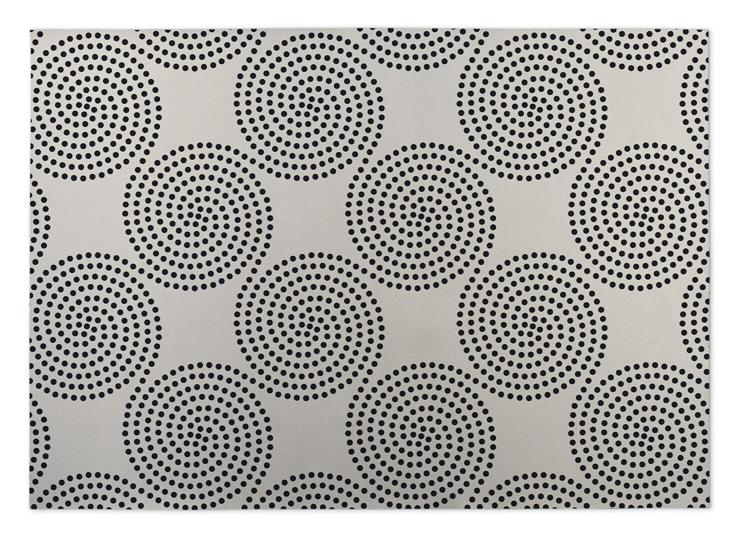 Ivory/Black Indoor/Outdoor Doormat Mat Size: Square 8'