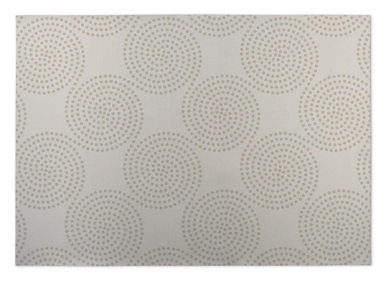 Ivory/Beige Indoor/Outdoor Doormat Mat Size: Rectangle 8' x 10'