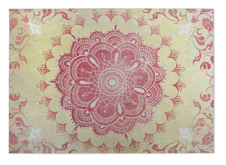 Gold/Coral Indoor/Outdoor Doormat Mat Size: Rectangle 8' x 10'