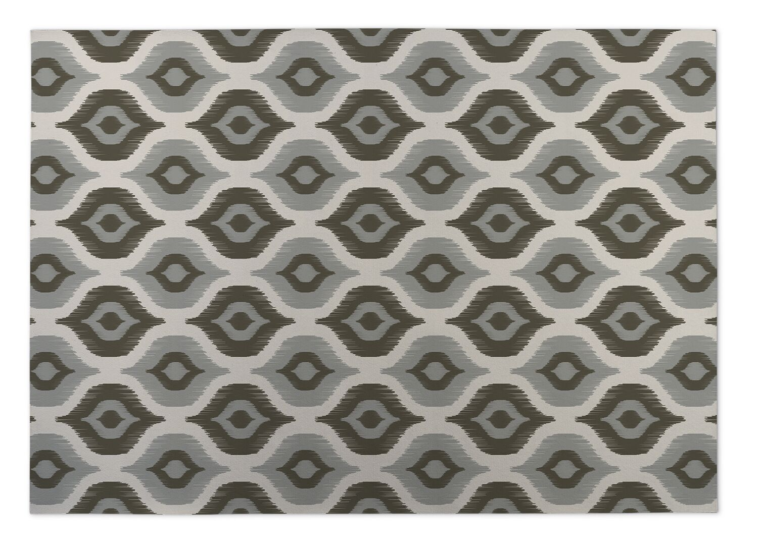 Namaste Gray Indoor/Outdoor Doormat Mat Size: Rectangle 4' x 5'