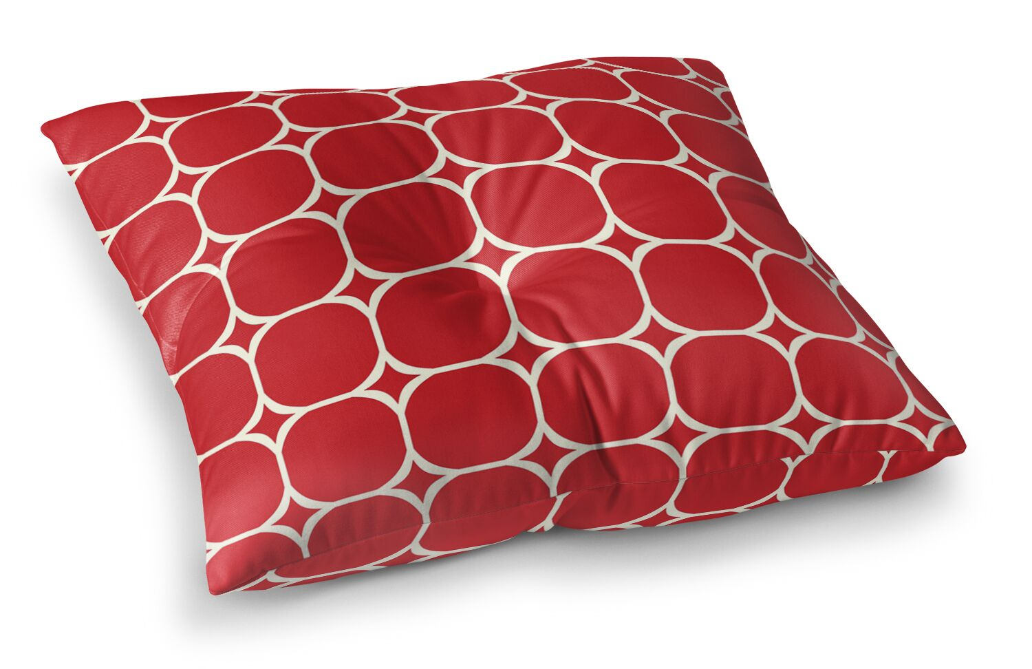Holiday Geo Floor Pillow Size: 26