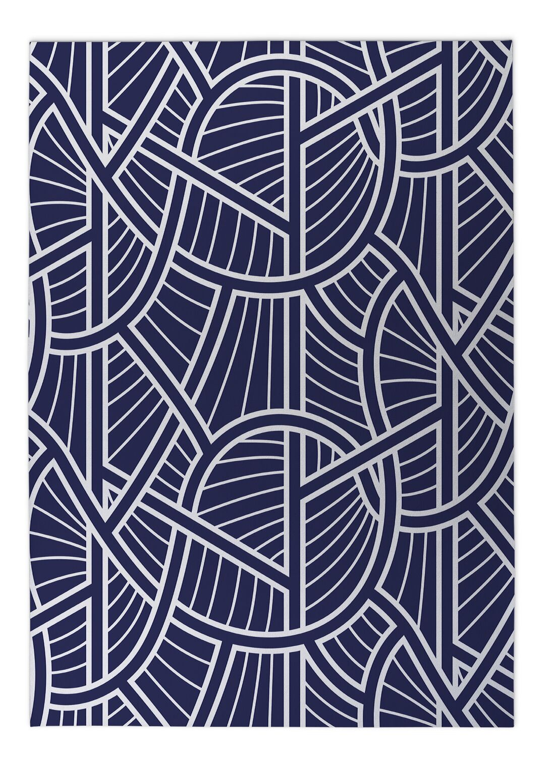 Geo Vines Doormat Mat Size: Rectangle 5' x 7'