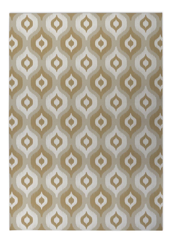 Underhill Indoor/Outdoor Doormat Color: Tan/ Ivory/ Gold, Mat Size: Rectangle 5' x 7'