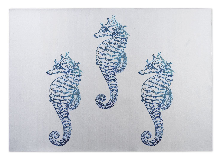 Seahorse 3 Doormat Mat Size: Rectangle 8' x 10'