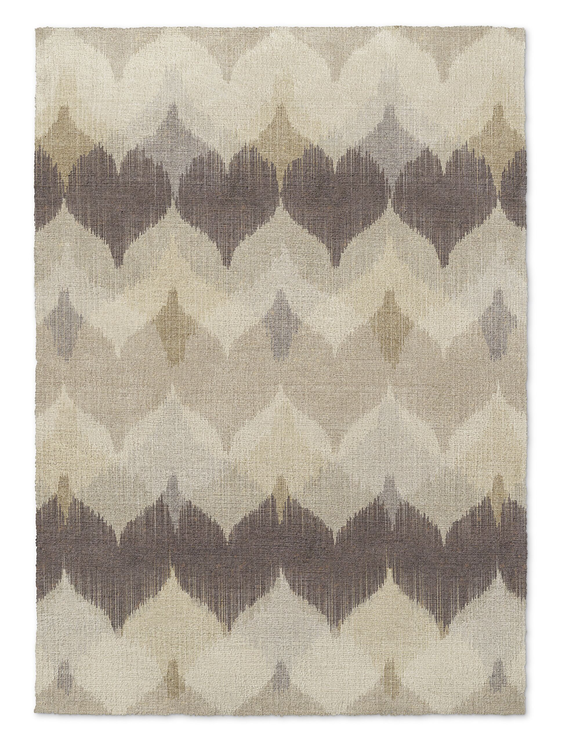 Marshall Brown/Beige Area Rug Rug Size: Rectangle 3' x 5'