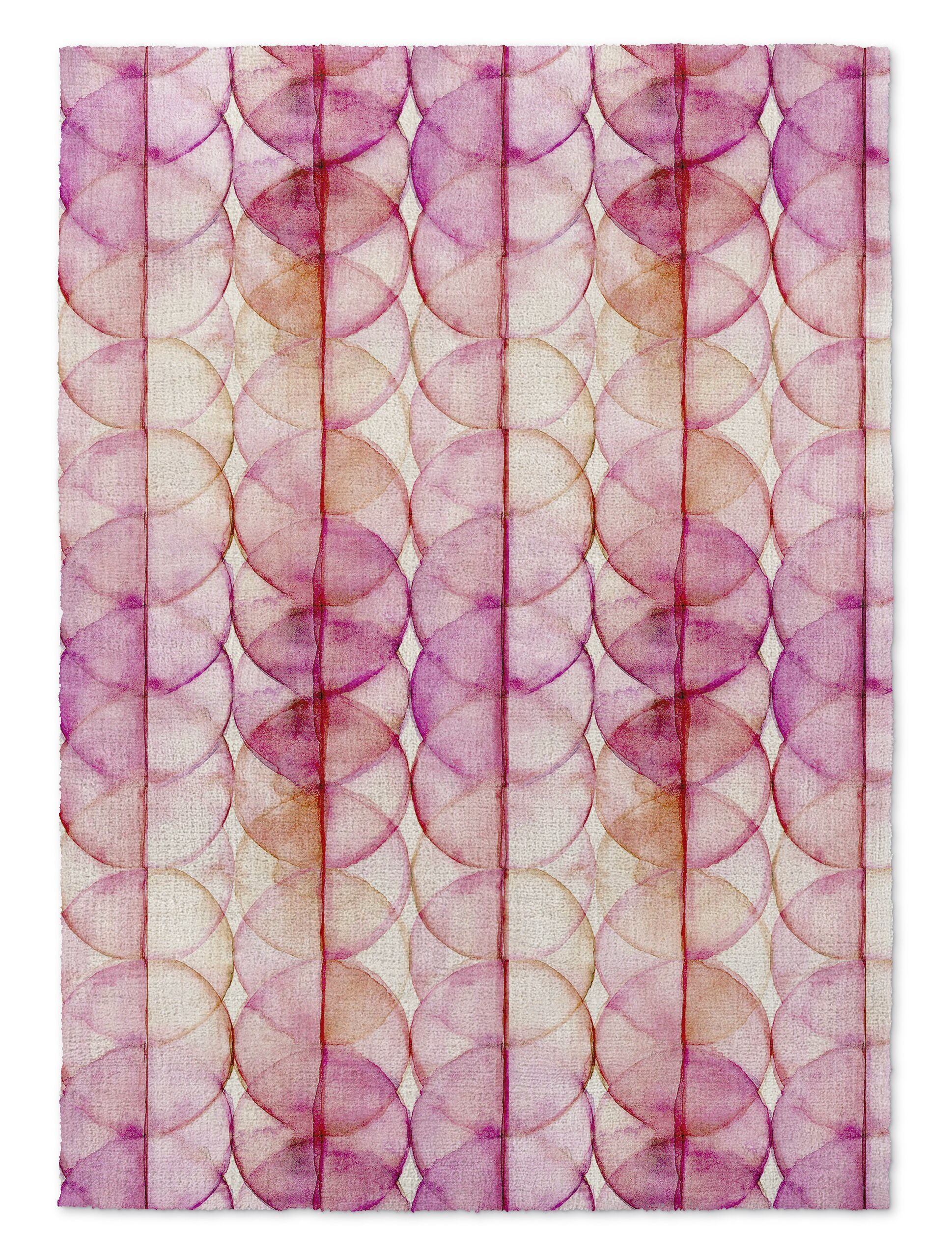 Pink/Yellow Area Rug Rug Size: Rectangle 5' x 7'