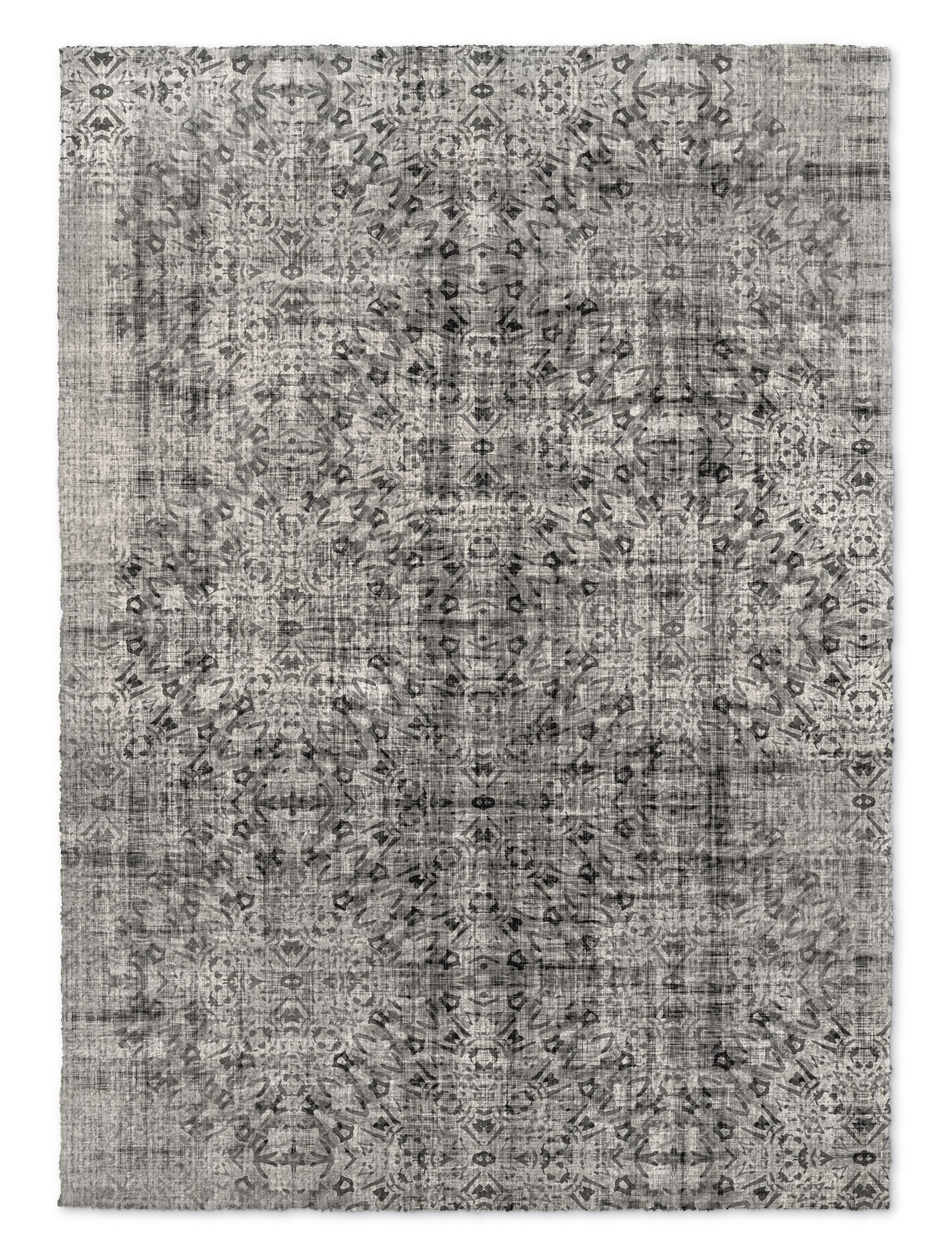 Gray Area Rug Rug Size: Rectangle 3' x 5'