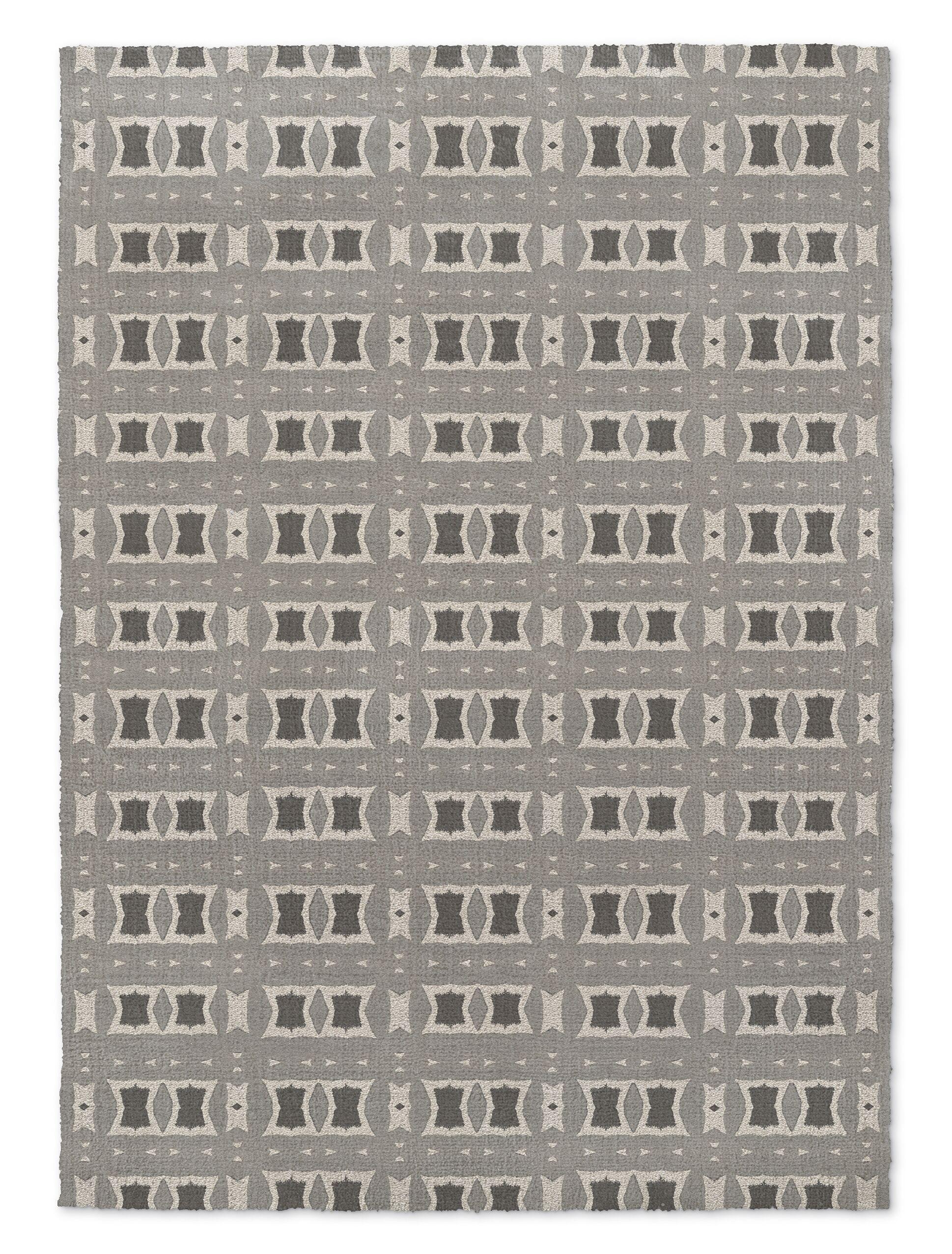 Crossroads Gray Area Rug Rug Size: Rectangle 2' x 3'