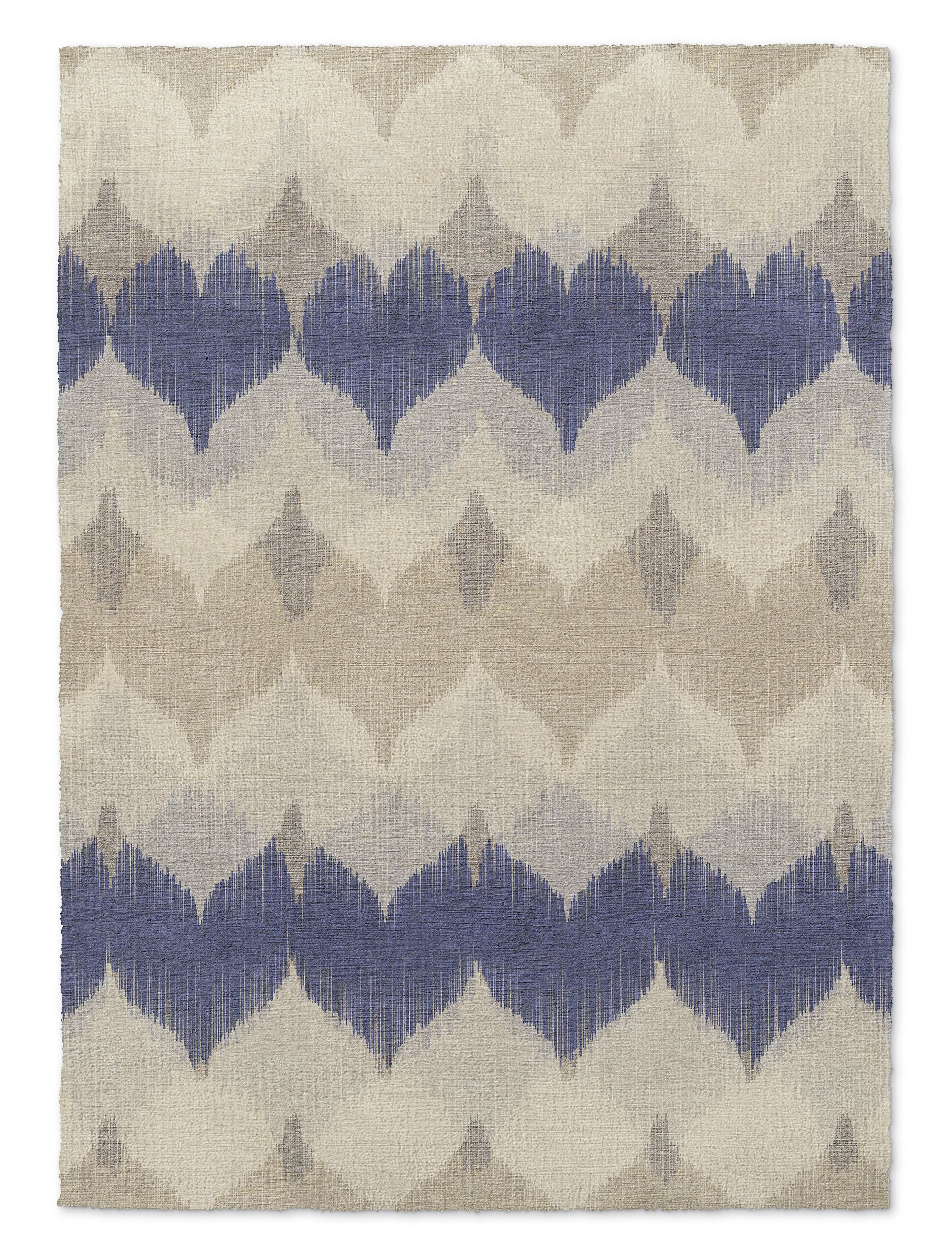 Dylan Beige/Blue Area Rug Rug Size: Rectangle 3' x 5'