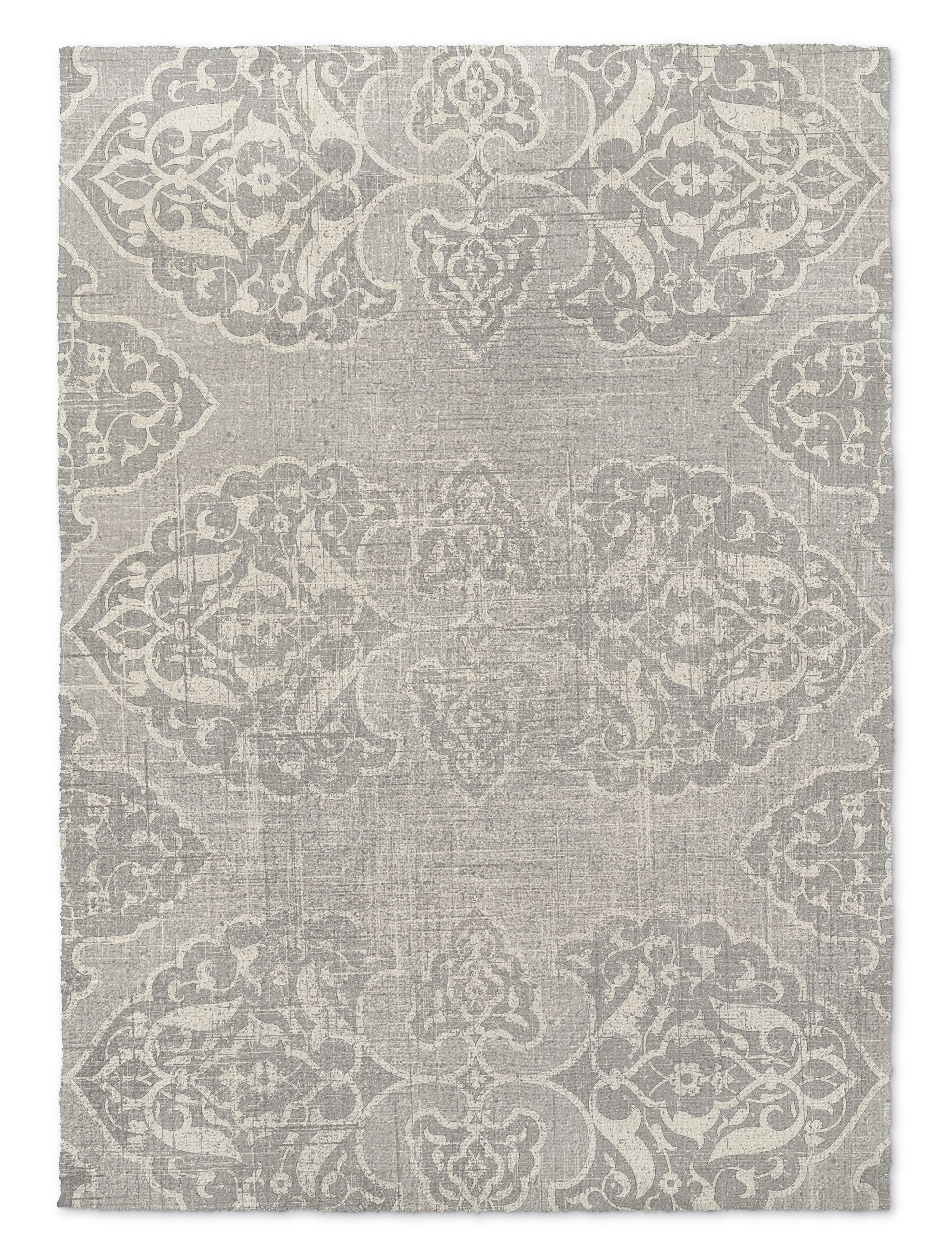 Beige/Gray Area Rug Rug Size: Rectangle 8' x 10'