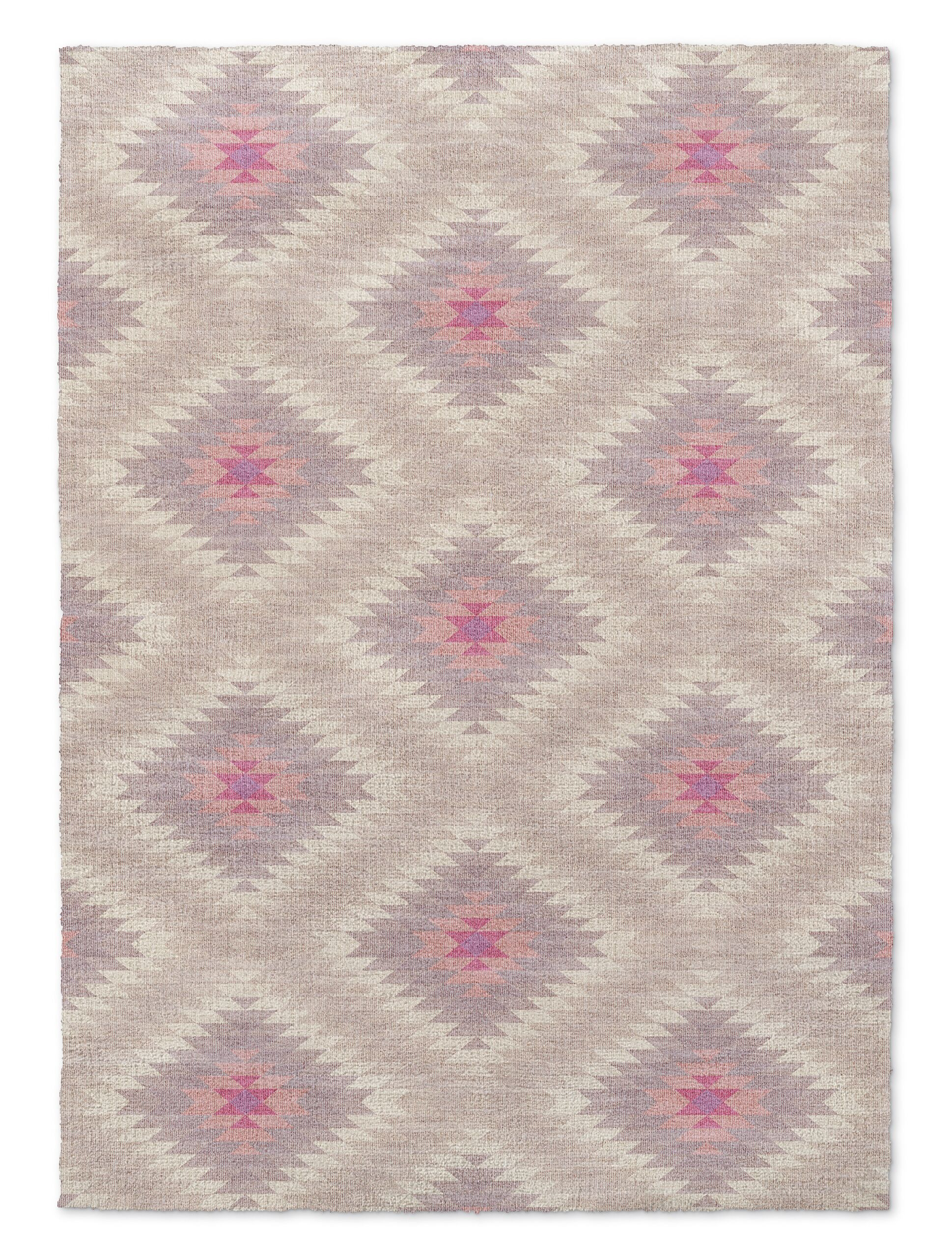 Rosalie Beige/Pink Area Rug Rug Size: Rectangle 5' x 7'