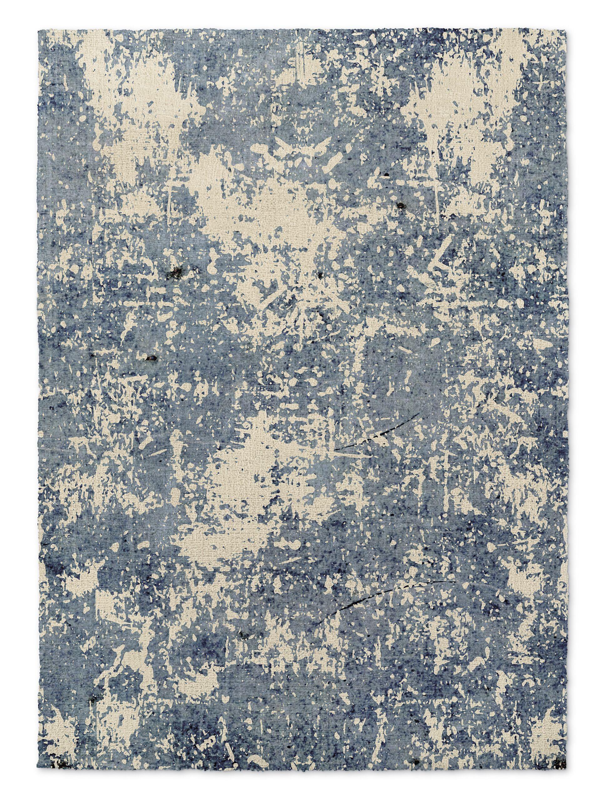 Tempe Blue/Beige Area Rug Rug Size: Rectangle 3' x 5'