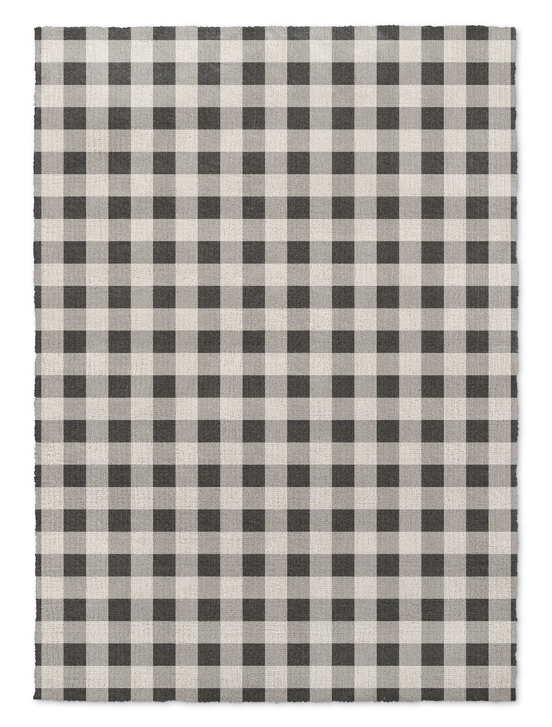 Grey/White Area Rug Rug Size: Rectangle 3' x 5'
