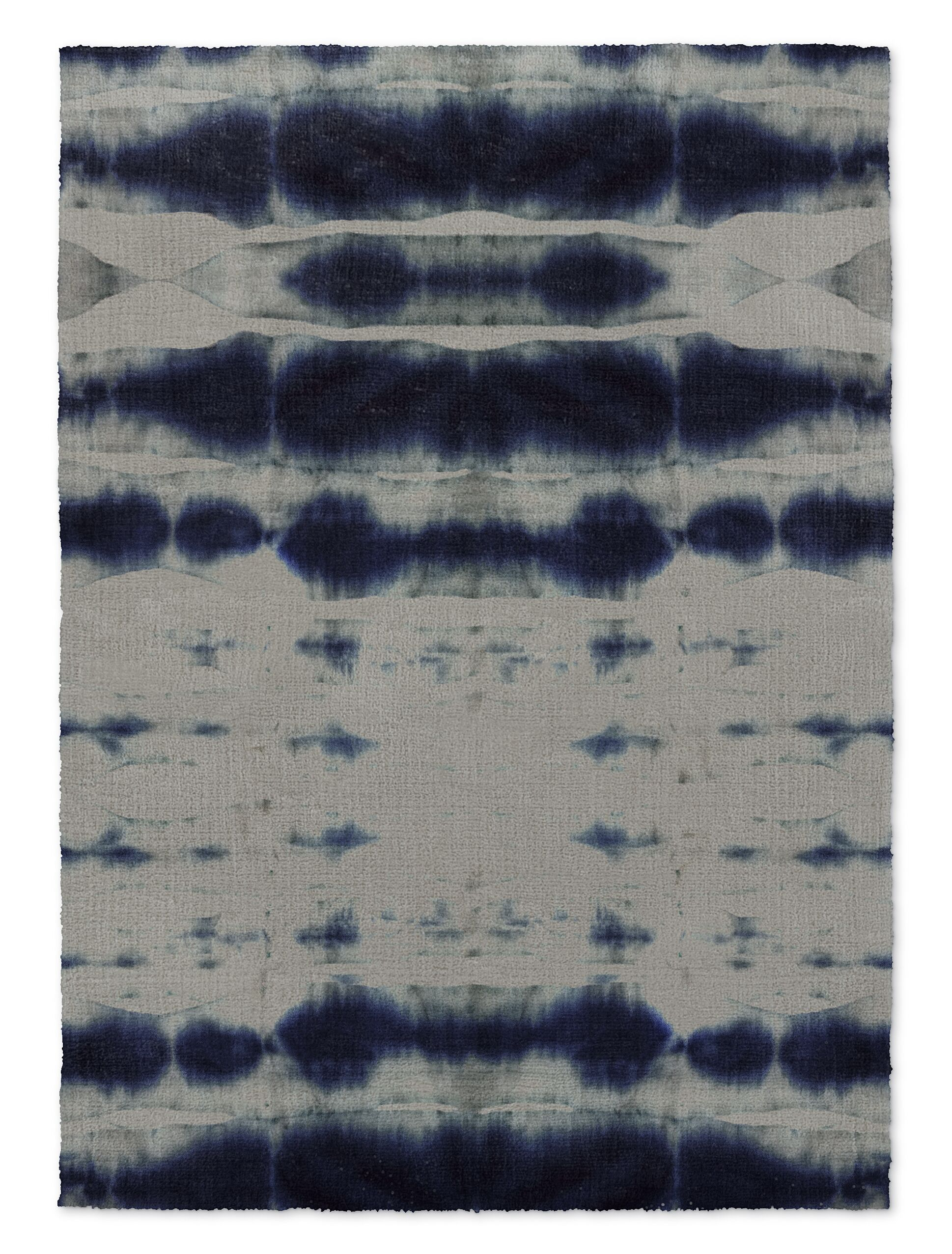 Blue/Gray Area Rug Rug Size: Rectangle 3' x 5'