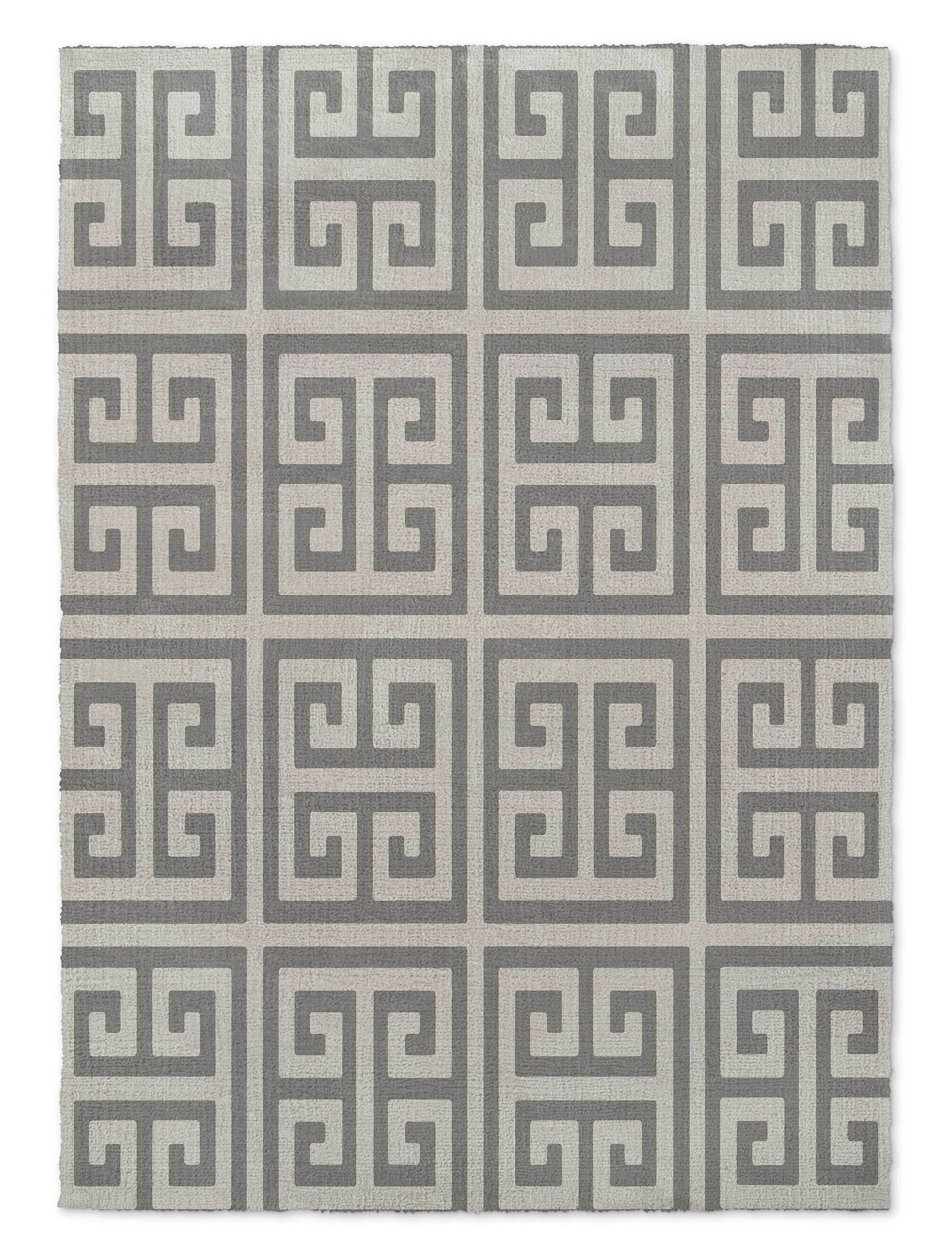 Ginger Gray Area Rug Rug Size: Rectangle 2' x 3'