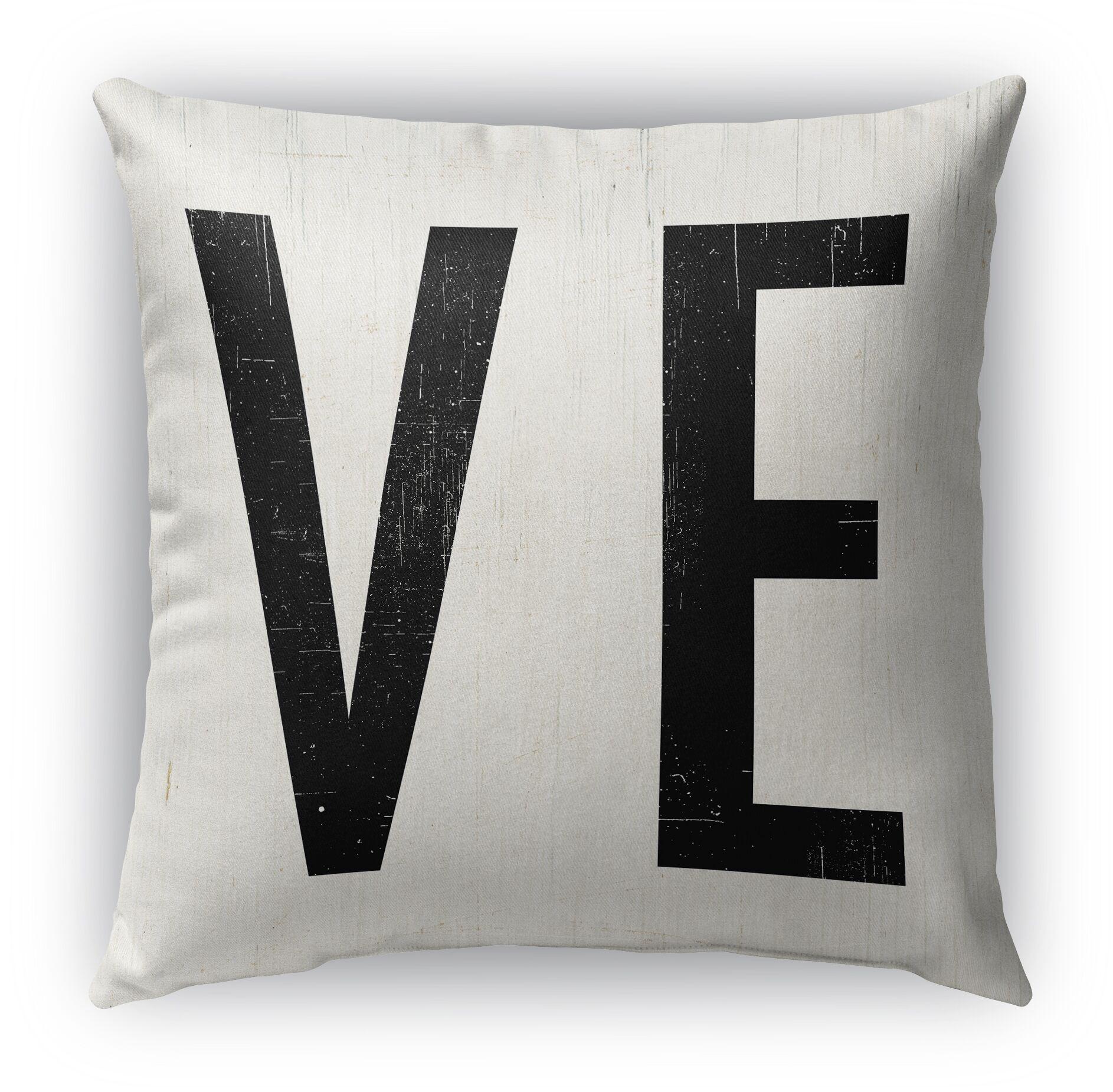 Ve Burlap Indoor/Outdoor Throw Pillow Size: 26