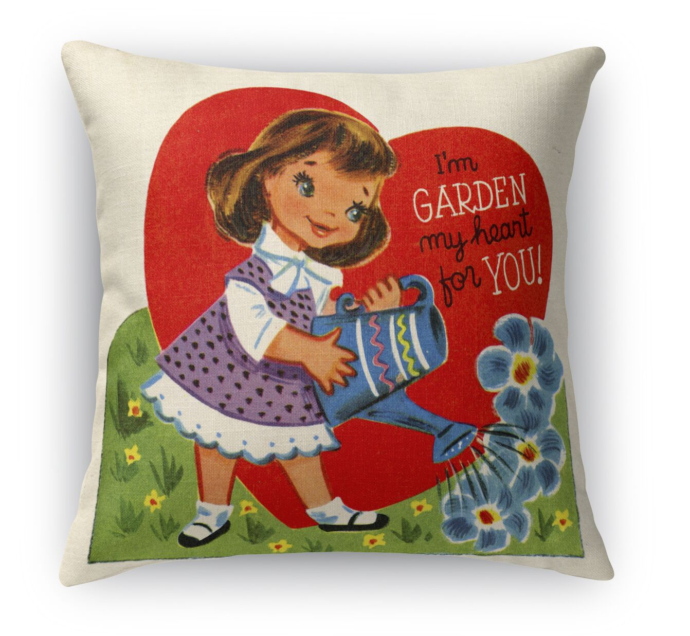 Garden My Heart for You Indoor Accent Pillow Size: 18