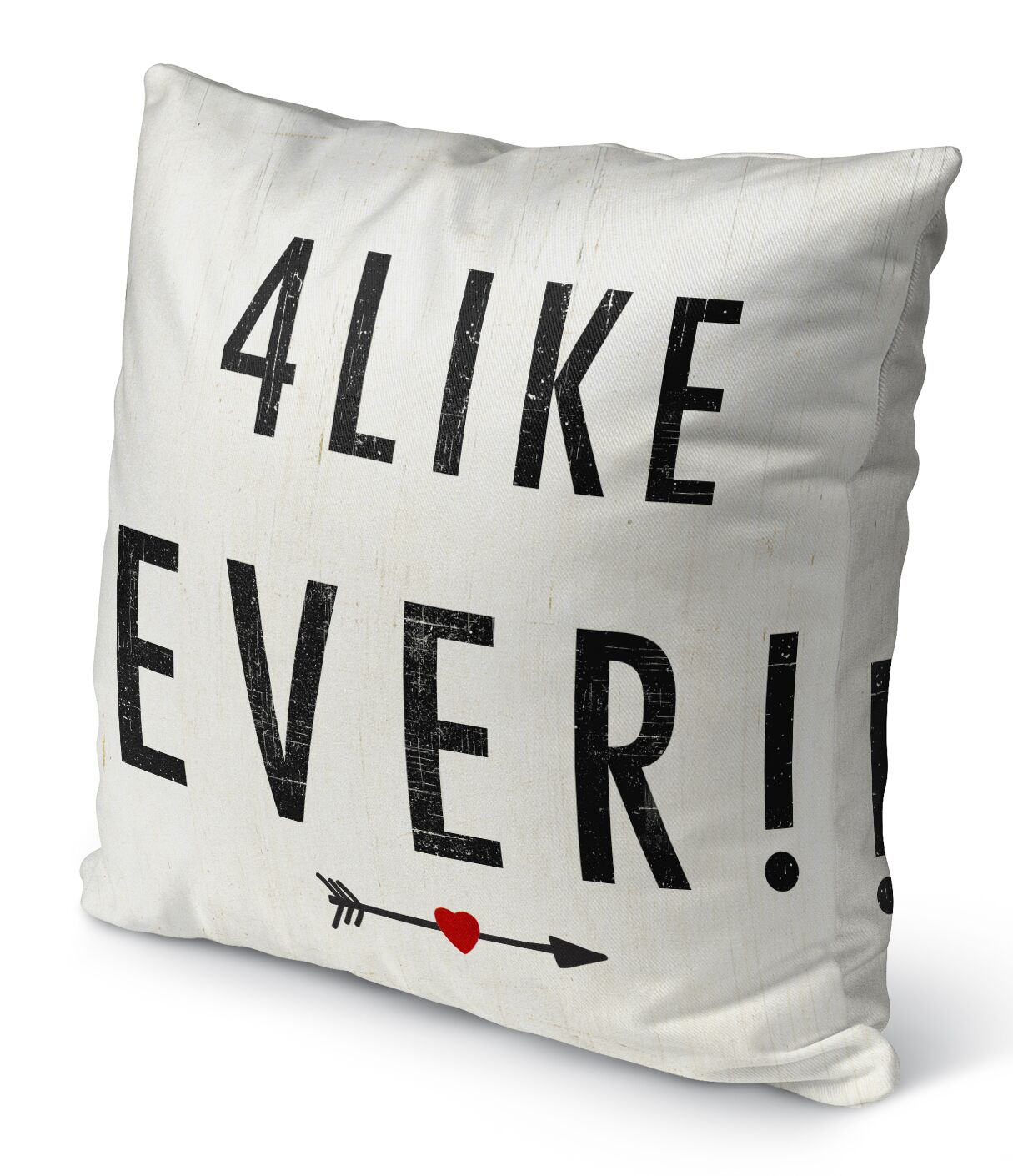 4 Like Ever Indoor Accent Pillow Size: 24