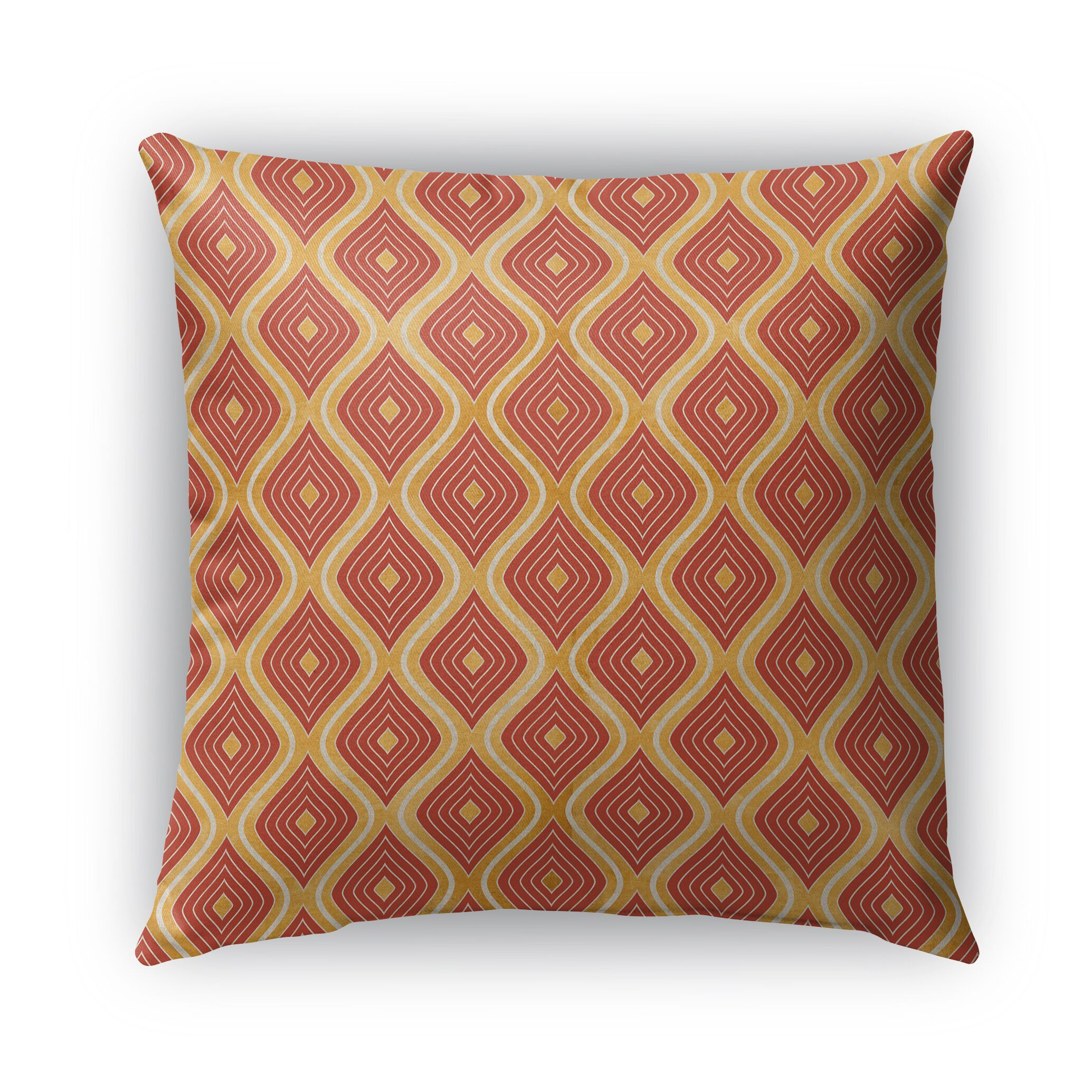 Catania Burlap Indoor/Outdoor Throw Pillow Size: 16