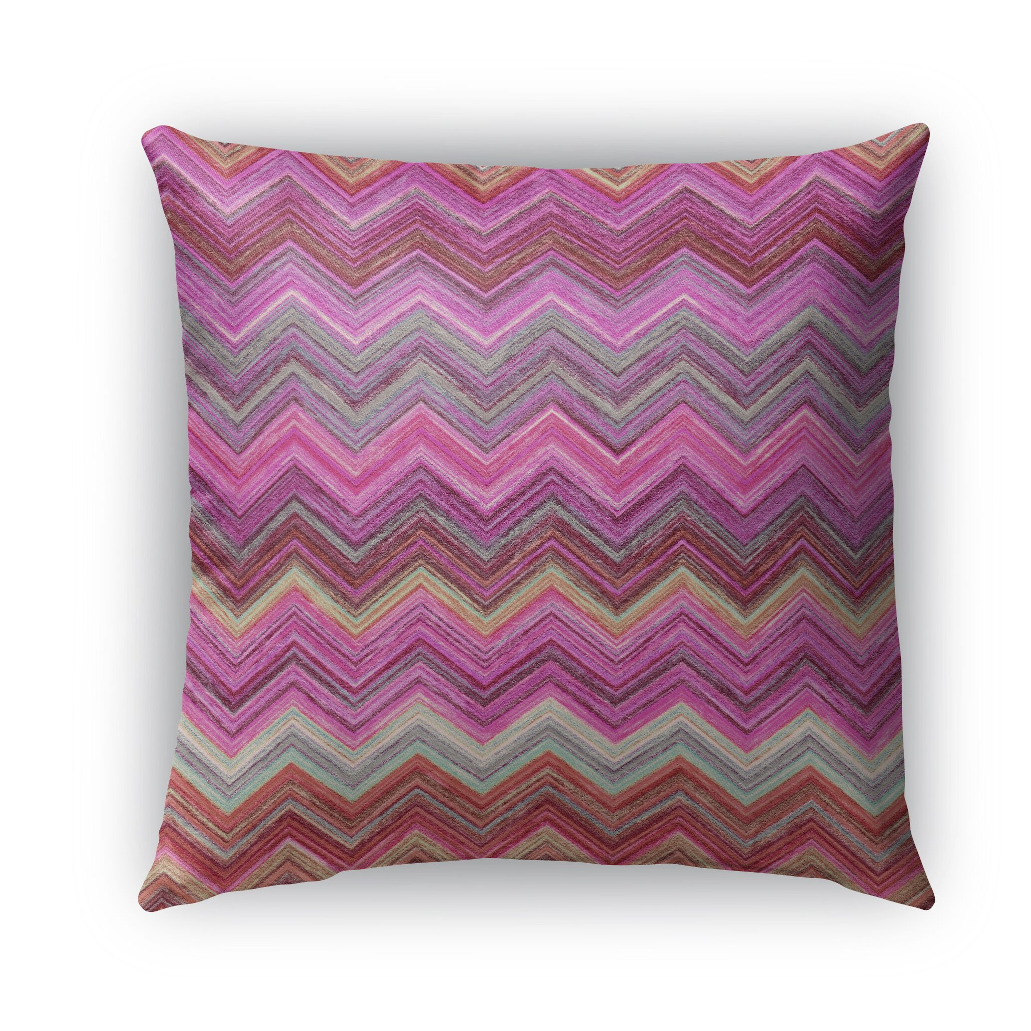 Marshall Pink Burlap Indoor/Outdoor Throw Pillow Size: 18
