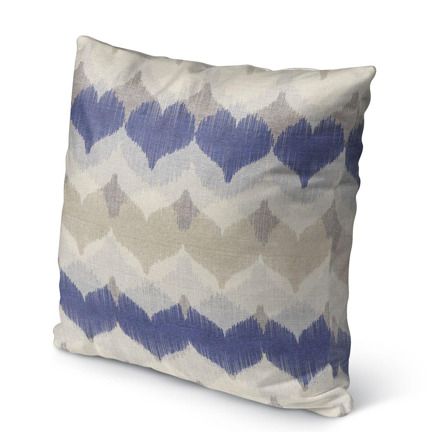 Dylan Burlap Indoor/Outdoor Throw Pillow Size: 26