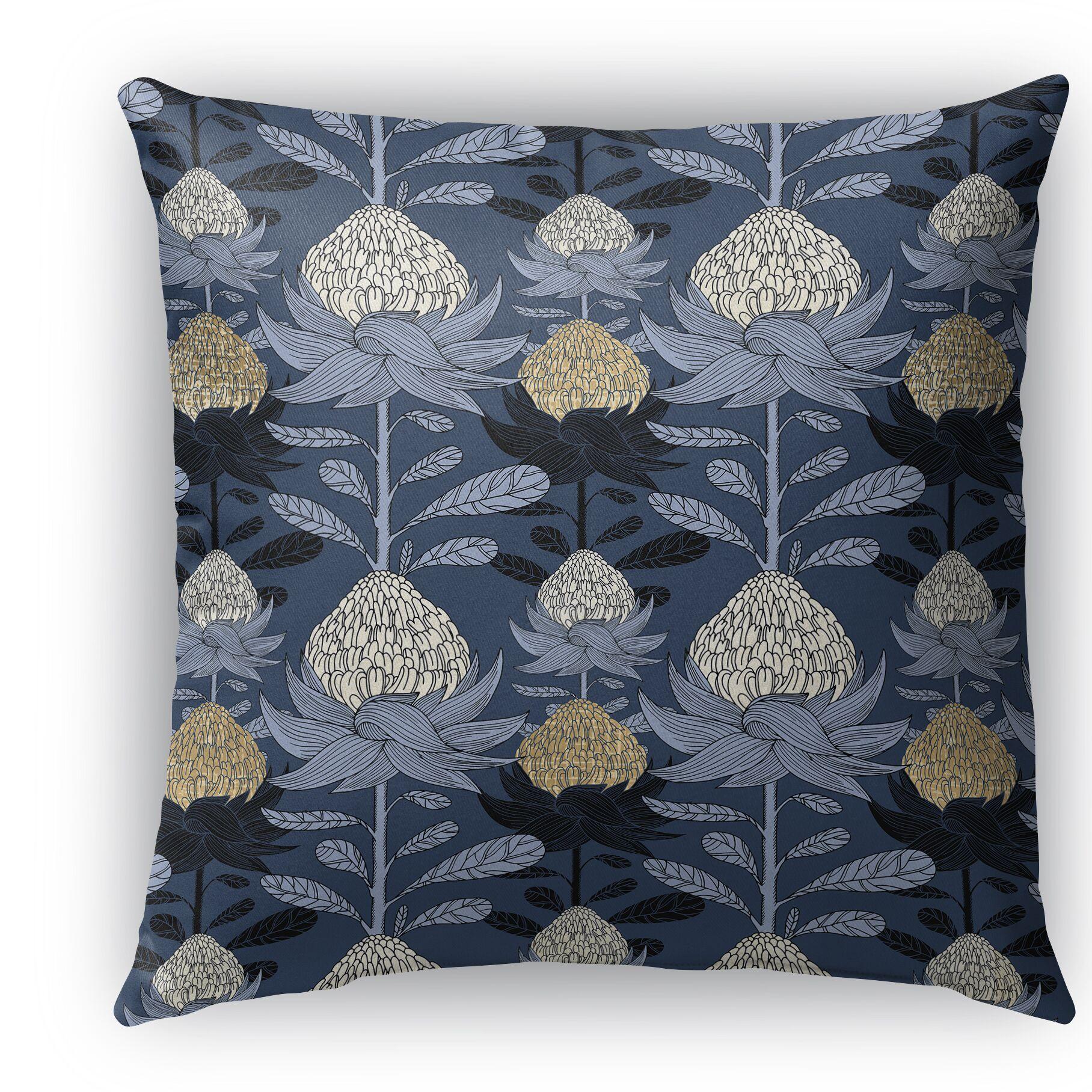Elicia Blossom Throw Pillow Size: 26