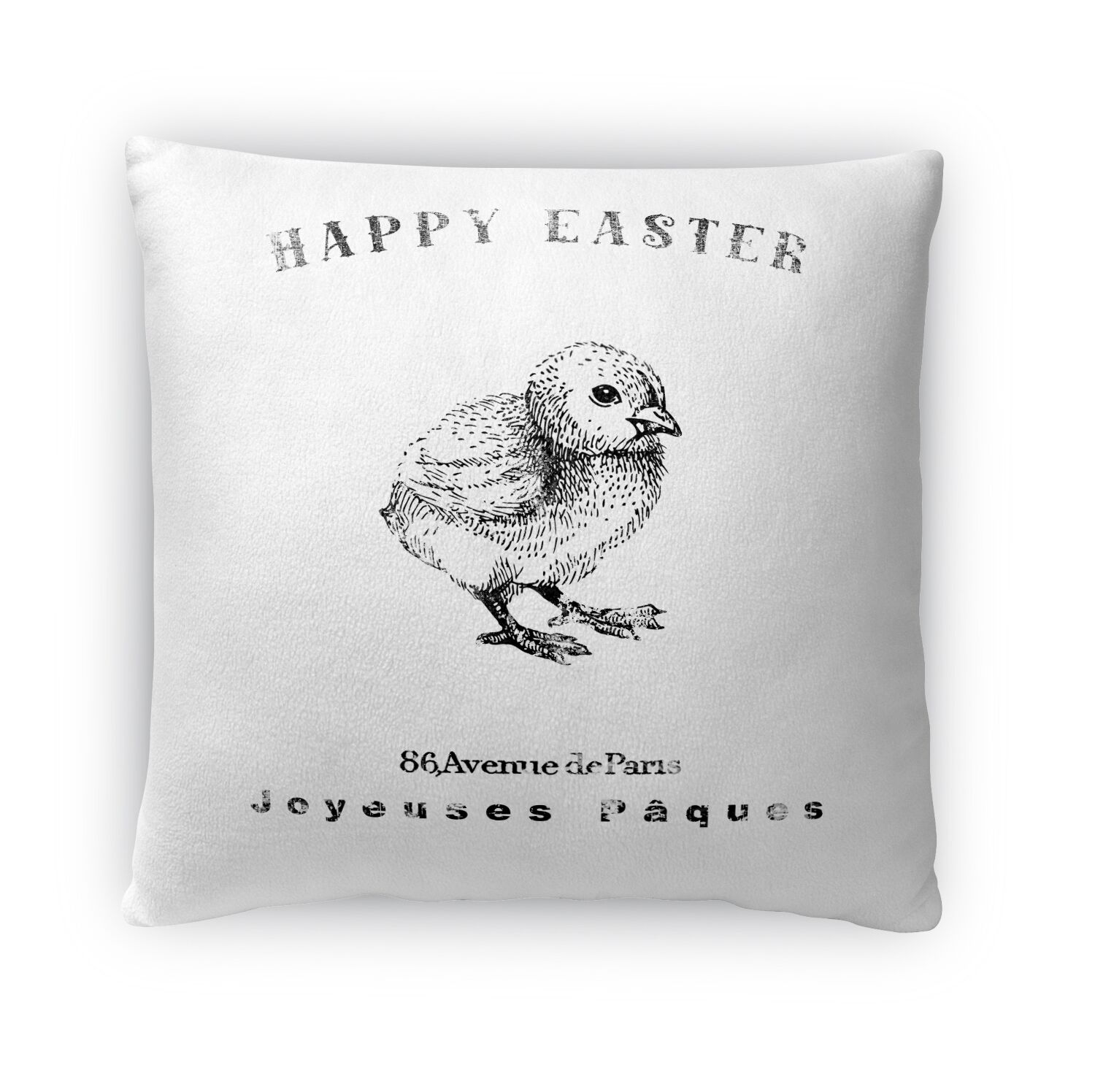 Easter Chic Throw Pillow Size: 16