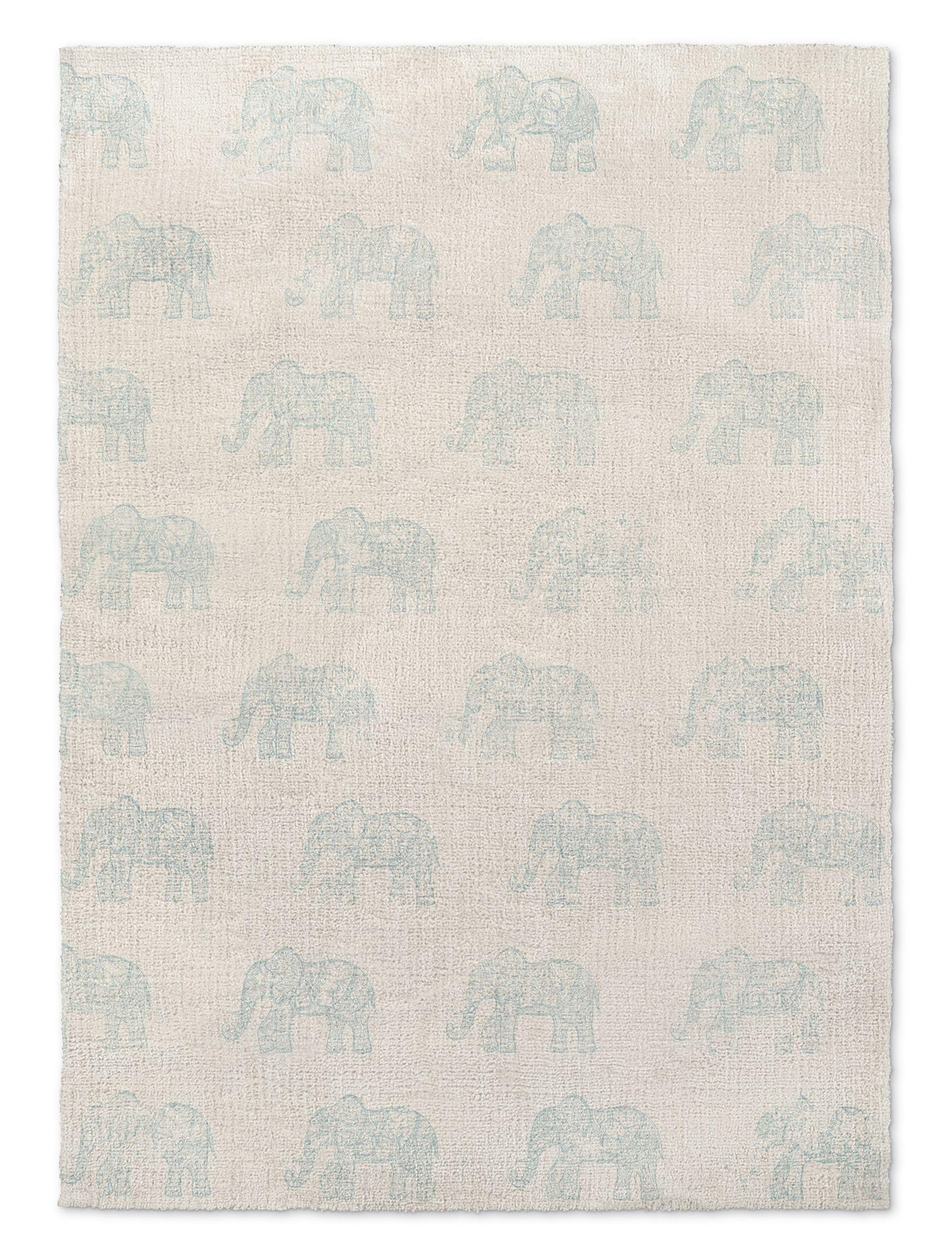 Netea Blue/Ivory Area Rug Rug Size: 5' x 7'