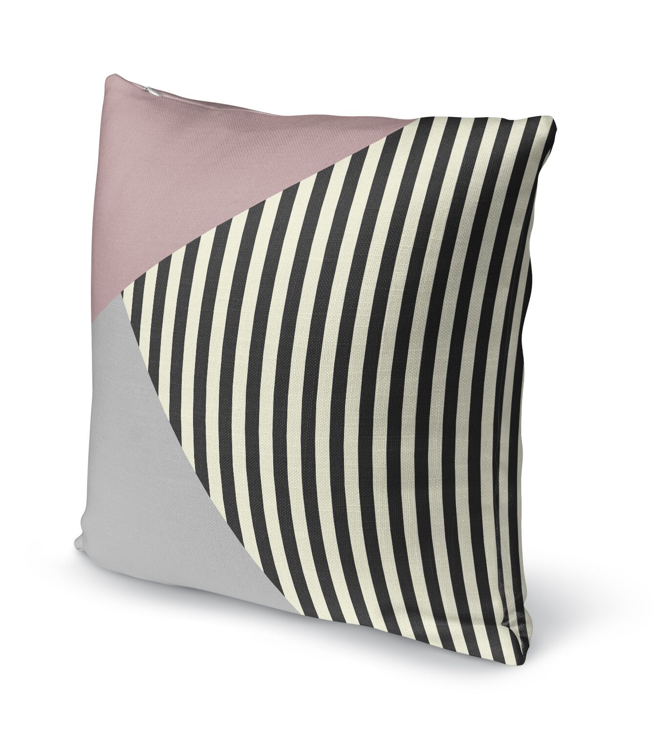Layered Stripe Accent Pillow Size: 24