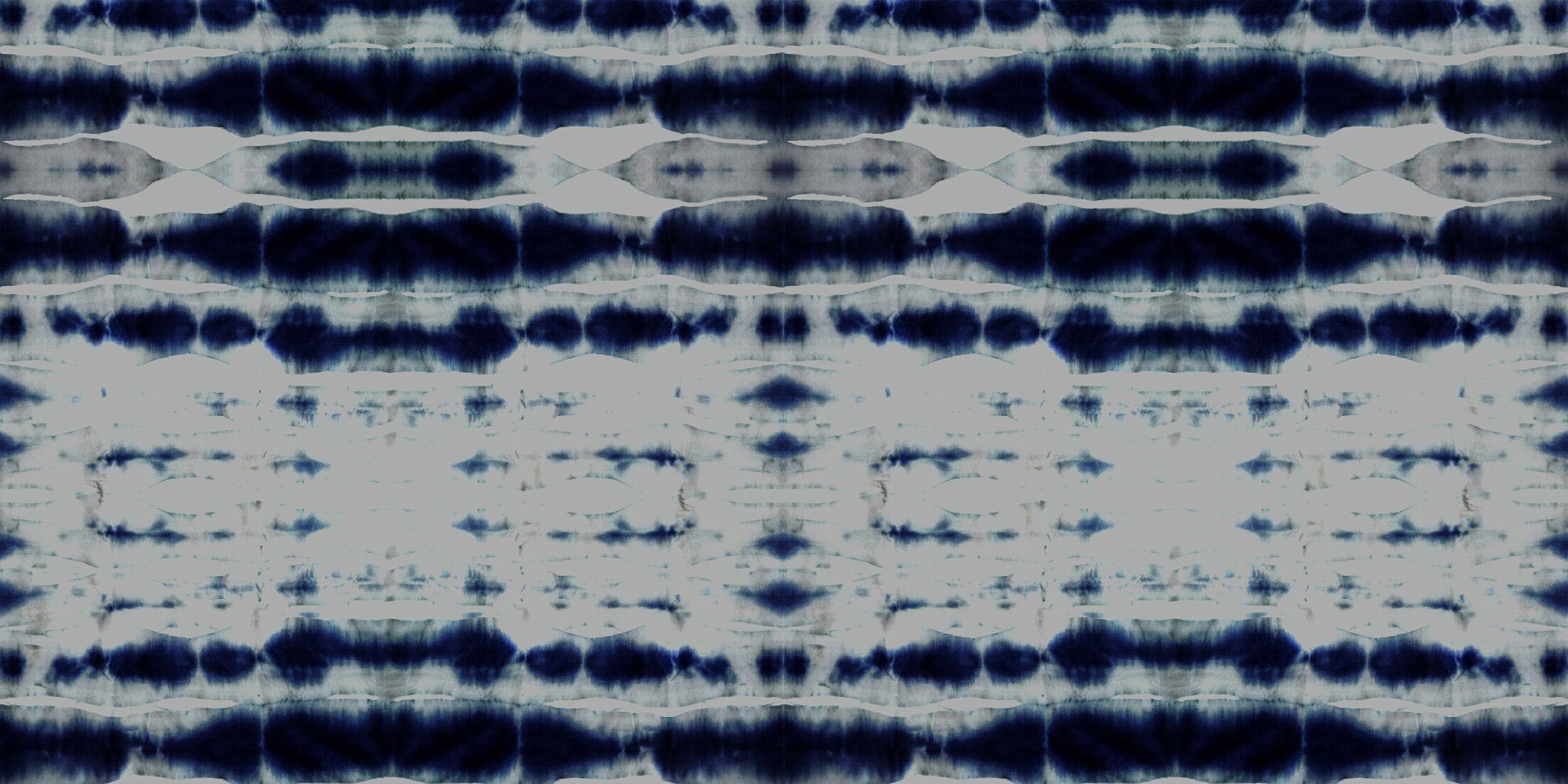 Shibori Stripe Round Floor Pillow Size: 26