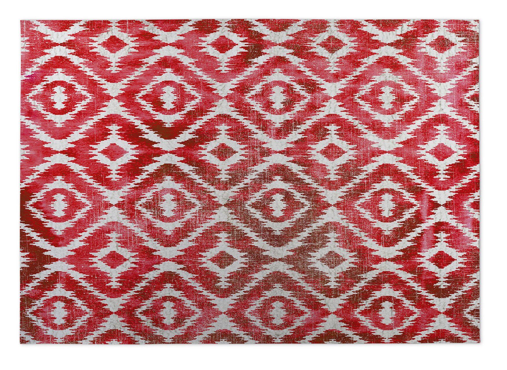 Laplant Pink Indoor/Outdoor Area Rug Rug Size: Rectangle 4' x 5'