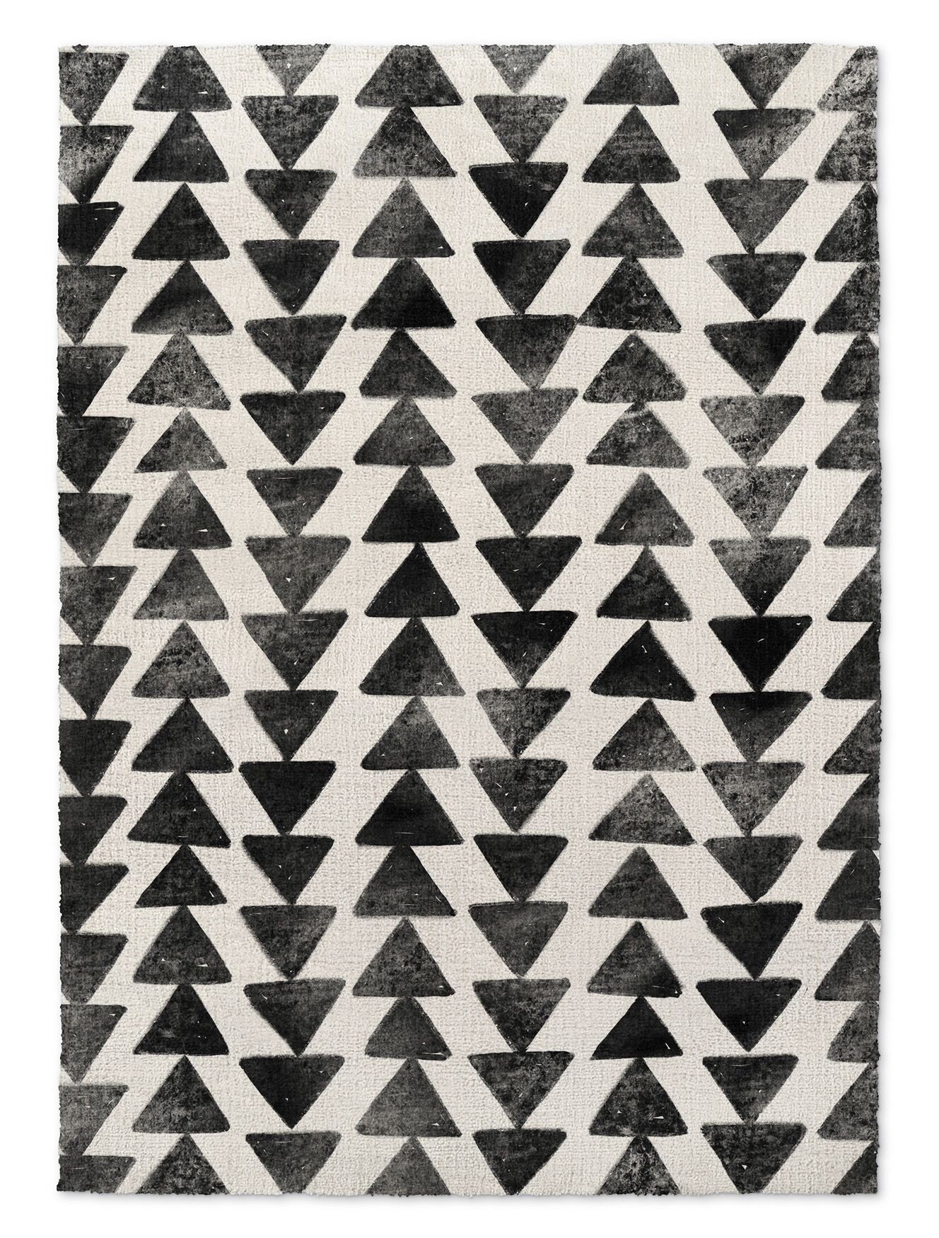 Foulks Black/Ivory Area Rug Rug Size: Rectangle 5' X 7'