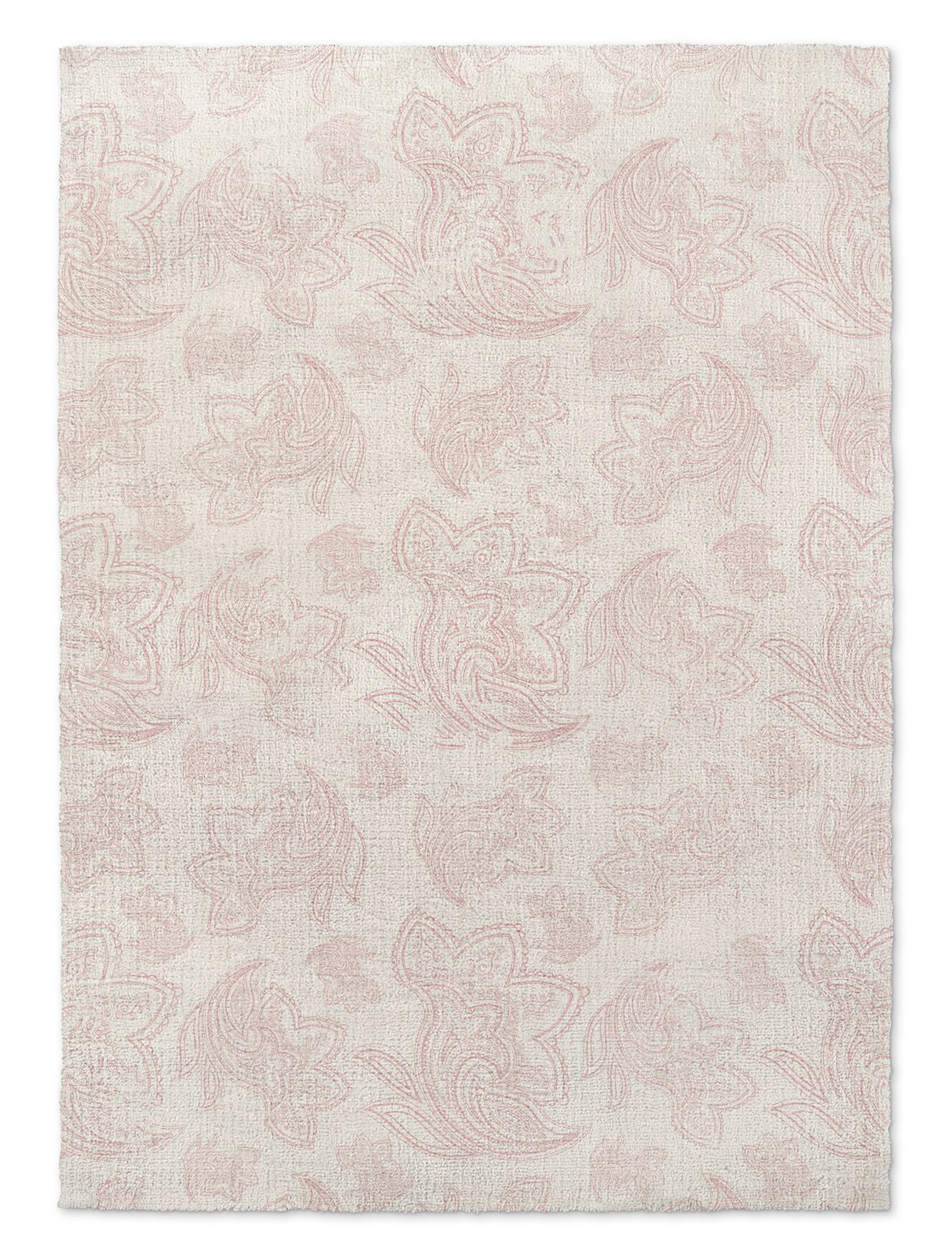 Paisley Destressed Pink Area Rug Rug Size: 2' x 3'