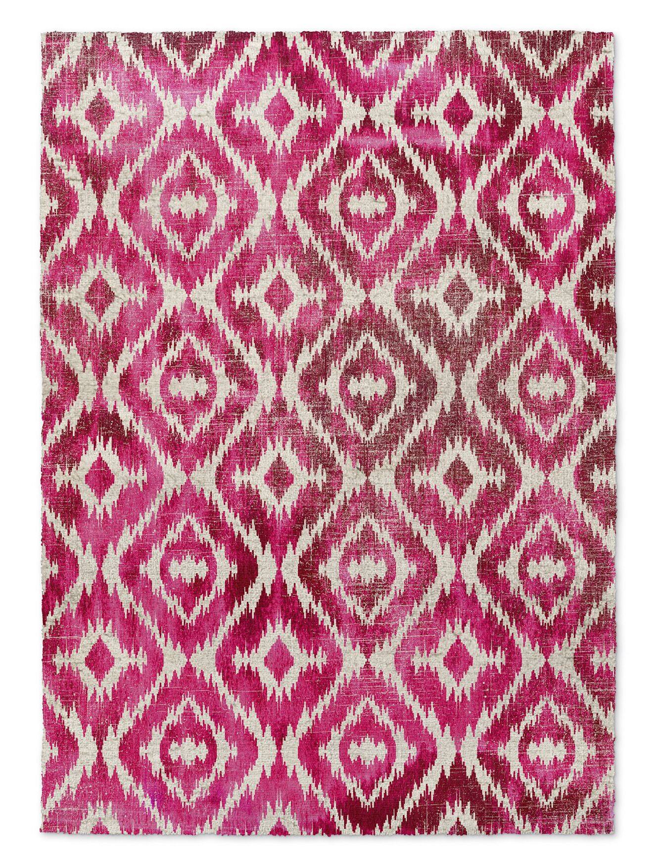 Laplant Pink Area Rug Rug Size: Rectangle 5' x 7'