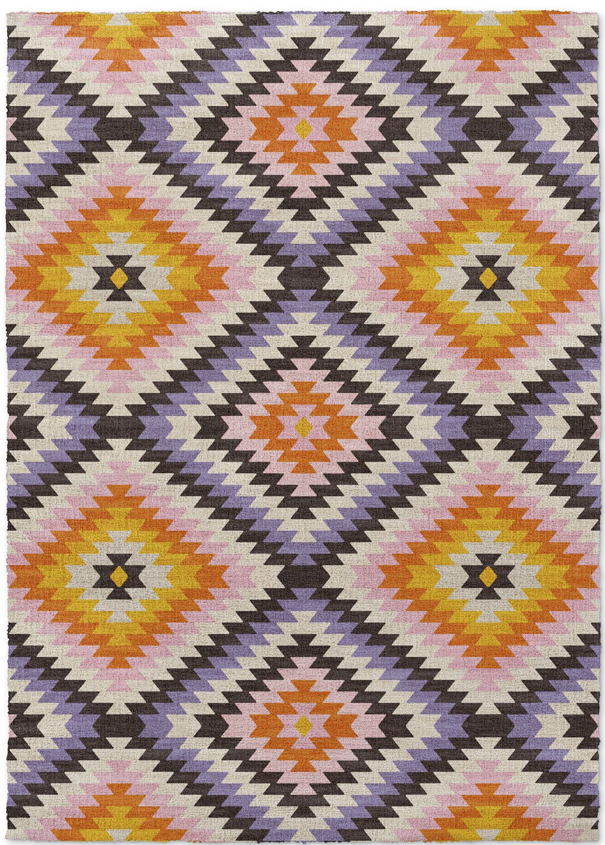 Sulien Purple/Yellow Area Rug Rug Size: 5' x 7'