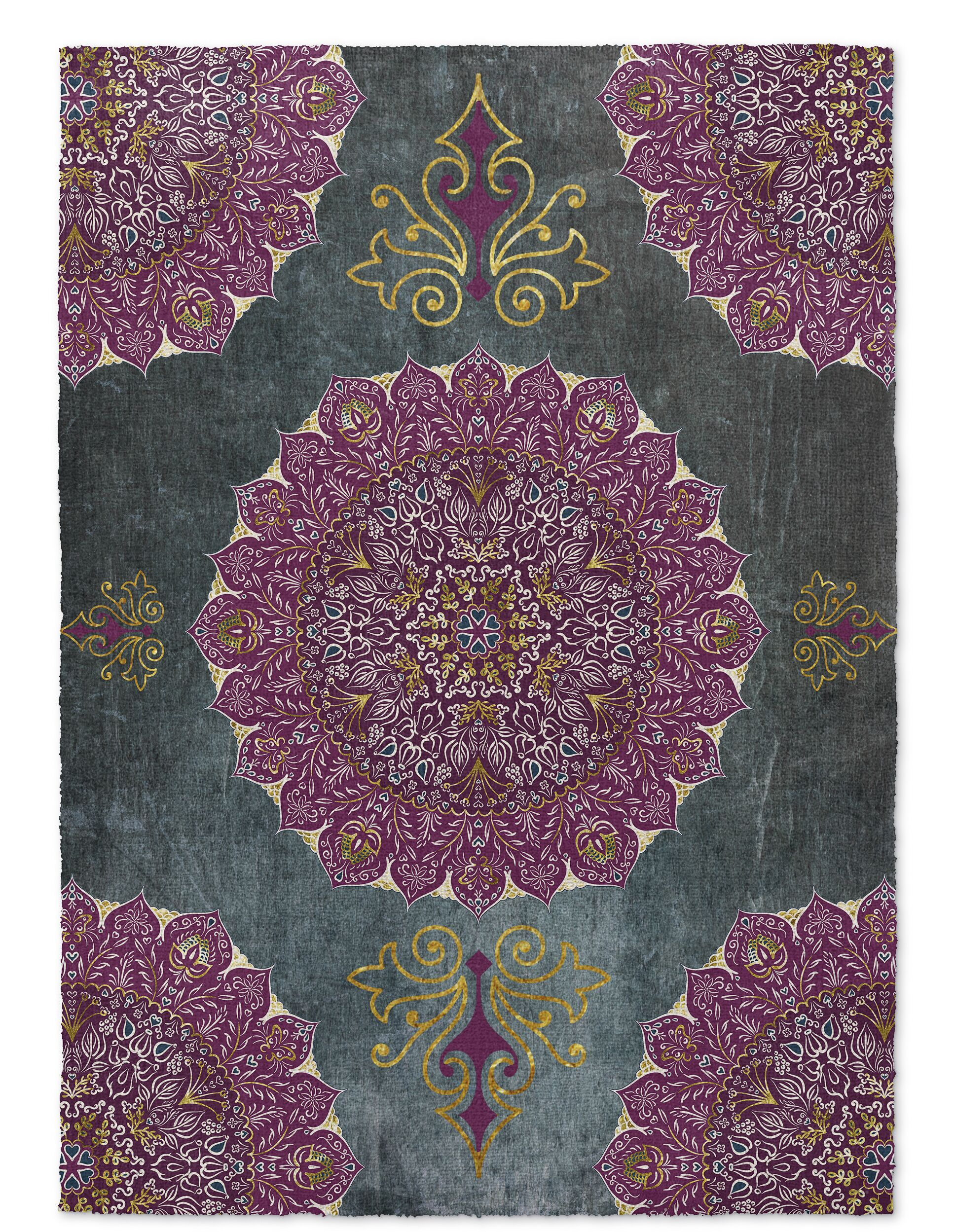 Gosney Green/Purple Indoor/Outdoor Area Rug Rug Size: Square 8'