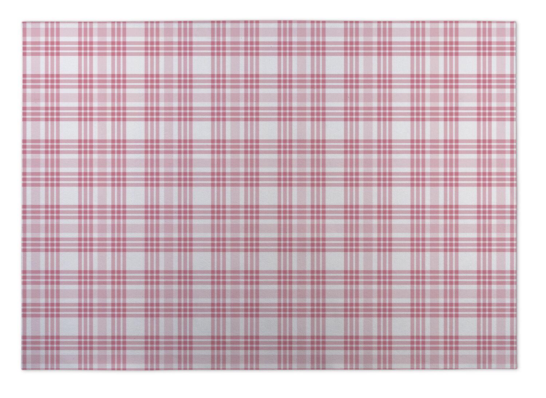 Gretchen Be Mine Plaid Indoor/Outdoor Doormat Mat Size: 5' x 7'