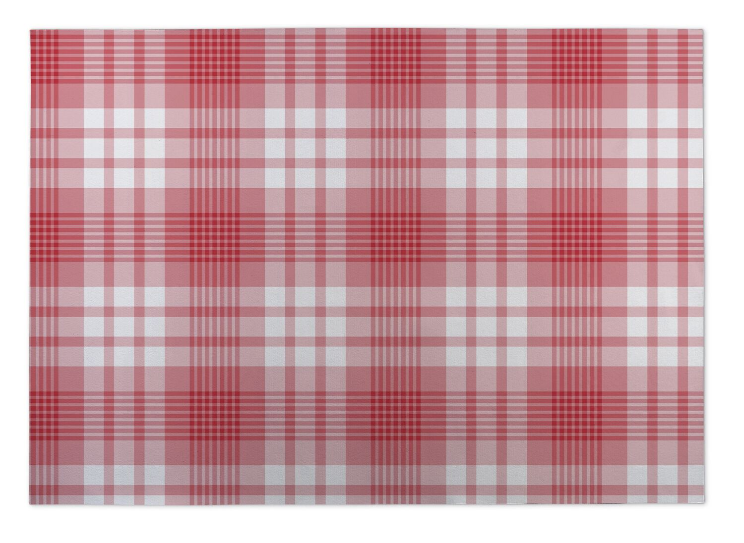 Giles Candy Cane Plaid Indoor/Outdoor Doormat Mat Size: Rectangle 5' x 7'