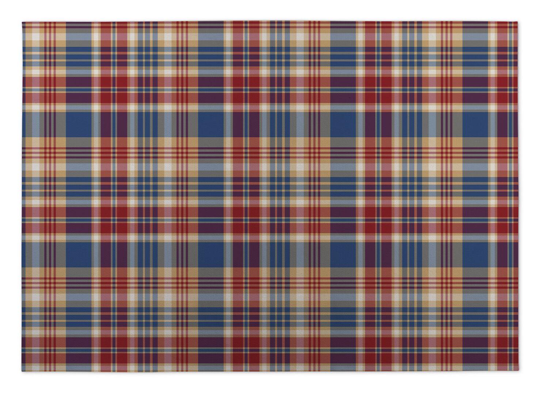 Buckley Fall Plaid Indoor/Outdoor Doormat Mat Size: Square 8'