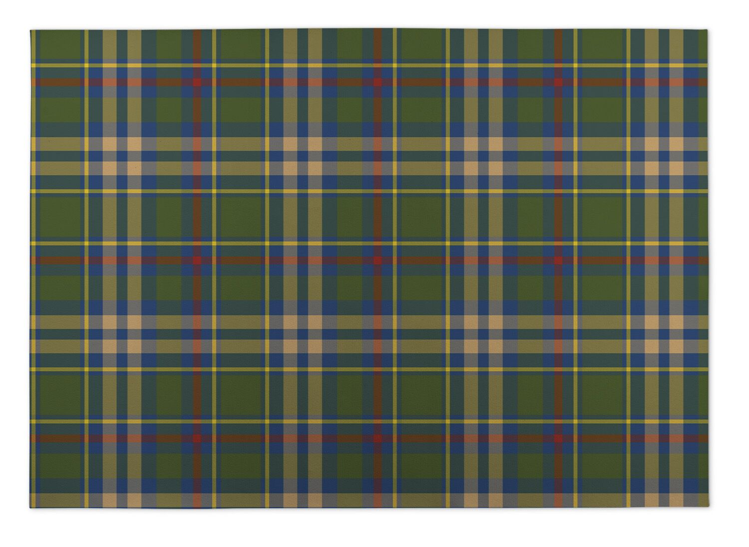 Vaughan Fall Plaid Indoor/Outdoor Doormat Mat Size: Rectangle 8' x 10'