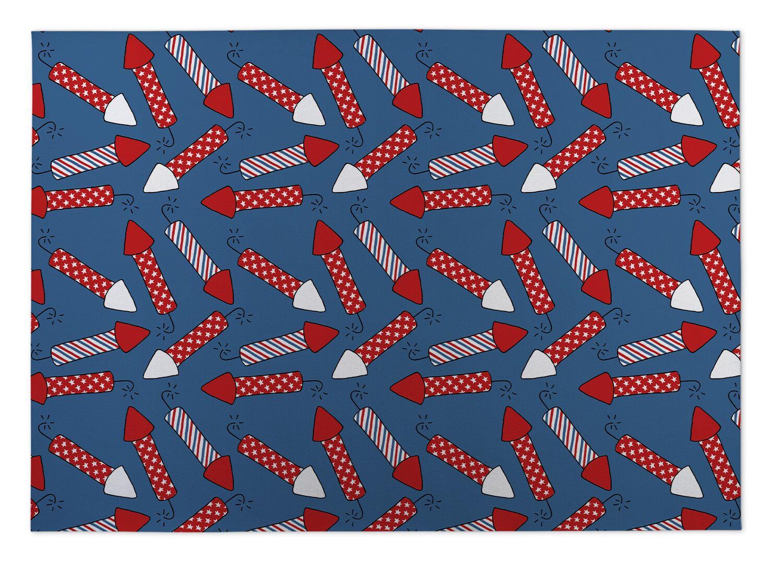 Season Fireworks Indoor/Outdoor Doormat Mat Size: Rectangle 2' x 3'