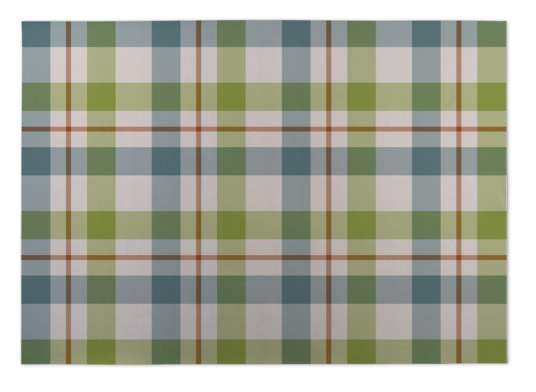 Hackney Fishing Plaid Indoor/Outdoor Doormat Mat Size: Rectangle 2' x 3'