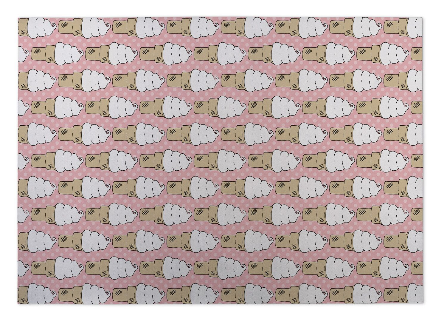 Johan Ice Cream Indoor/Outdoor Doormat Mat Size: Square 8'