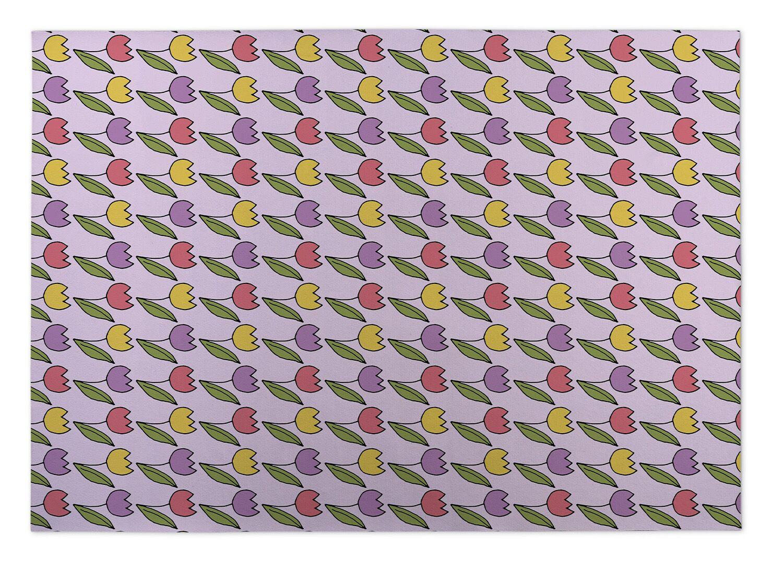 Eddy Tulips Indoor/Outdoor Doormat Mat Size: 5' x 7'